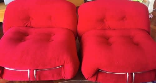Reupholstered Cassina Chairs – $5000: gallery slide thumbnail 2