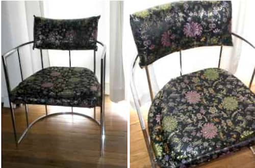 Thayer Coggin Chrome Chair – $500: gallery slide thumbnail 7
