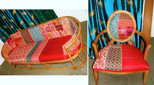 Quirky Bamboo Sofa and Chair – $400: gallery slide thumbnail 2
