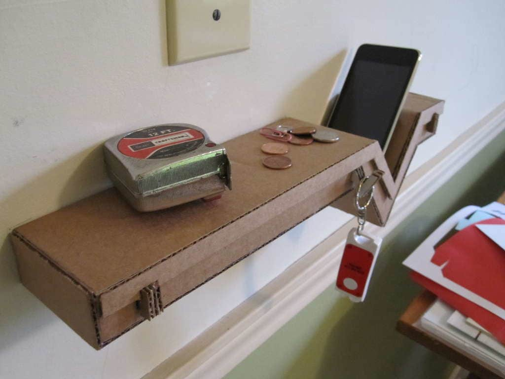 Build a Cardboard Shelf Perfect for Your Phone & Keys: gallery slide thumbnail 2
