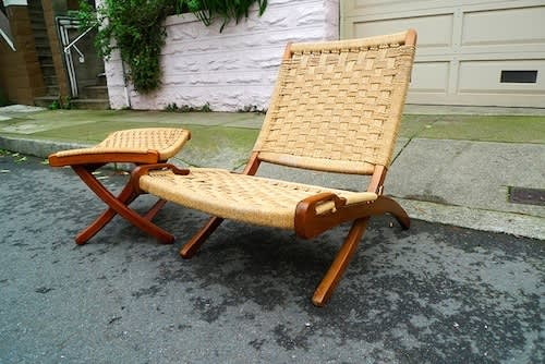 Folding Rope Chair and Ottoman – $300: gallery slide thumbnail 6