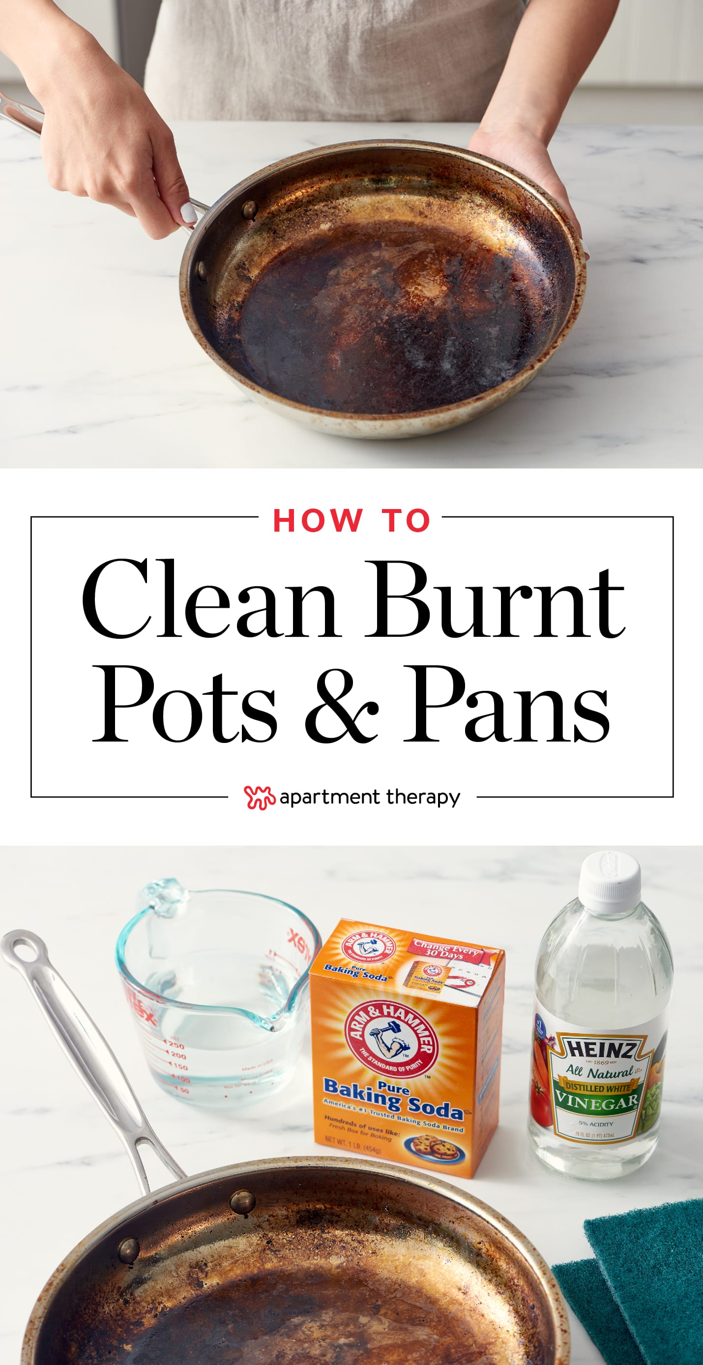 How To Clean A Burnt Pot Or Scorched Pan Apartment Therapy