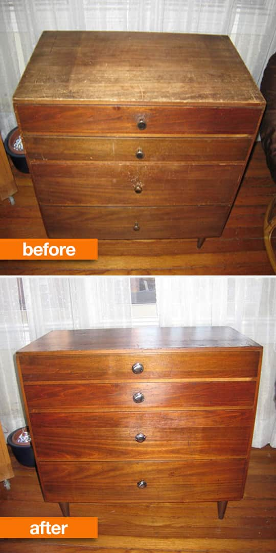 Before After Roundup Refinished Wood Furniture Projects