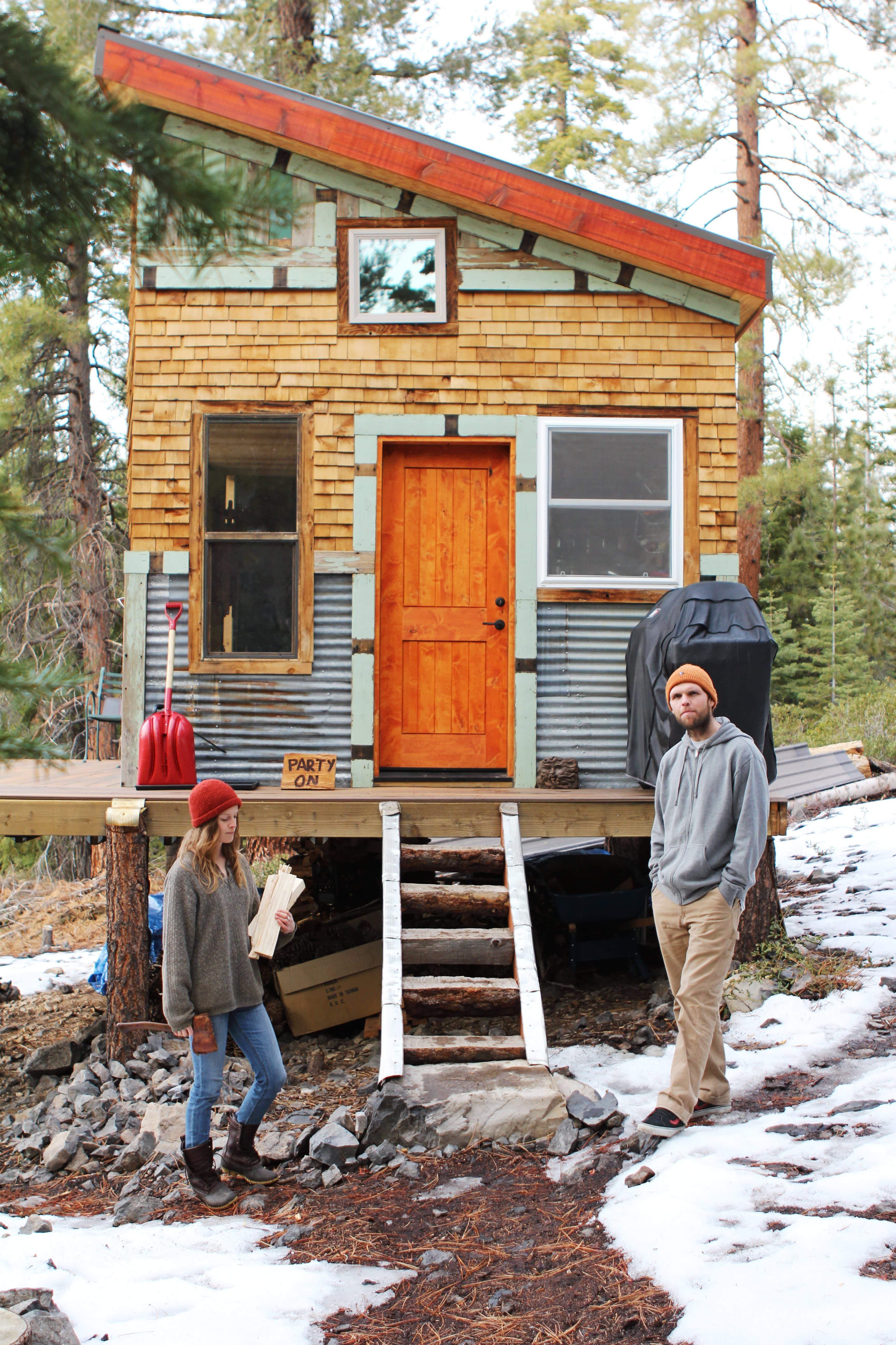 Tim and Hannah's Affordable DIY Self-Sustainable Micro Cabin: gallery slide thumbnail 16