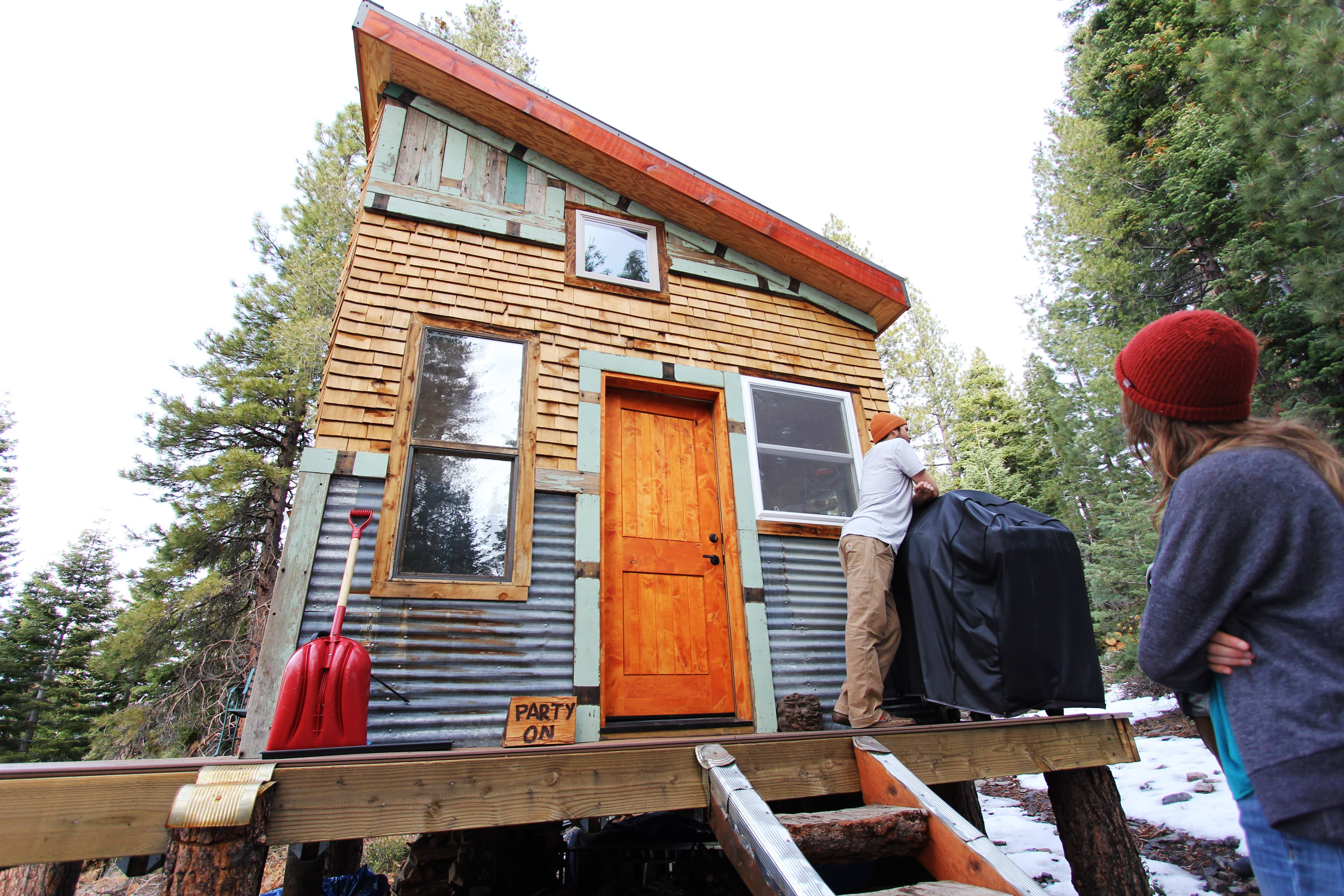 Tim and Hannah's Affordable DIY Self-Sustainable Micro Cabin: gallery slide thumbnail 5