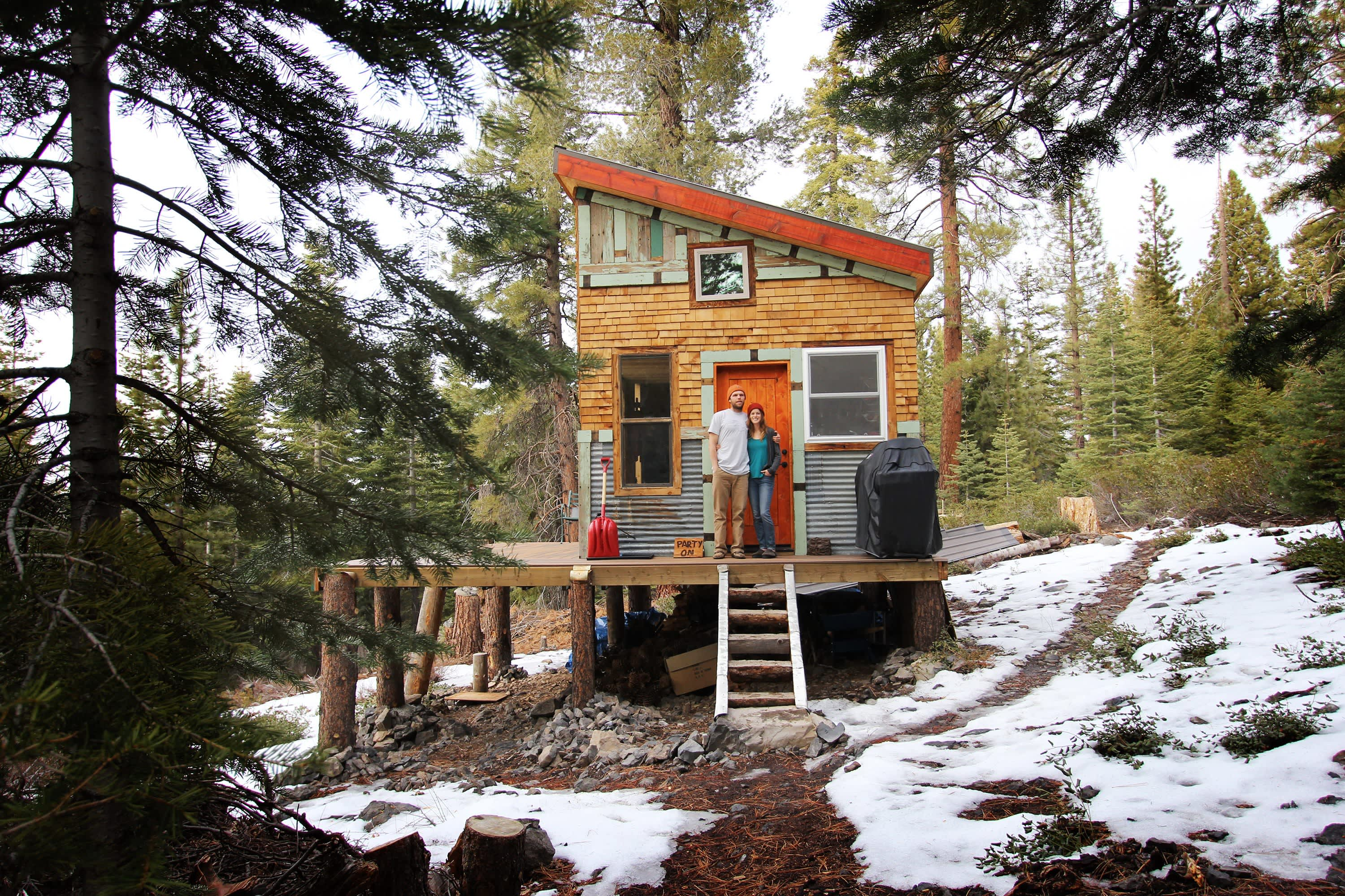 Tim and Hannah's Affordable DIY Self-Sustainable Micro Cabin: gallery slide thumbnail 4