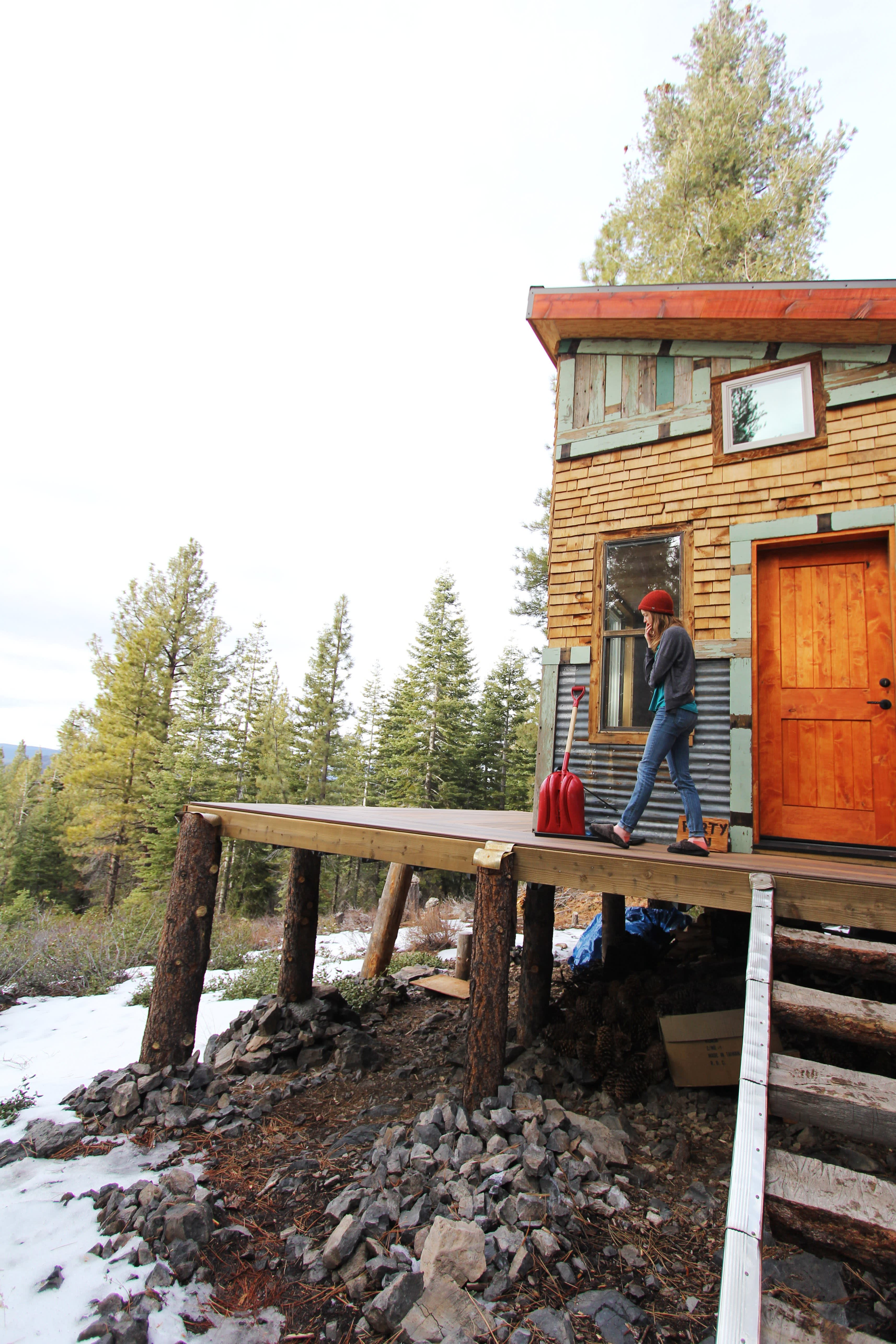 Tim and Hannah's Affordable DIY Self-Sustainable Micro Cabin: gallery slide thumbnail 12