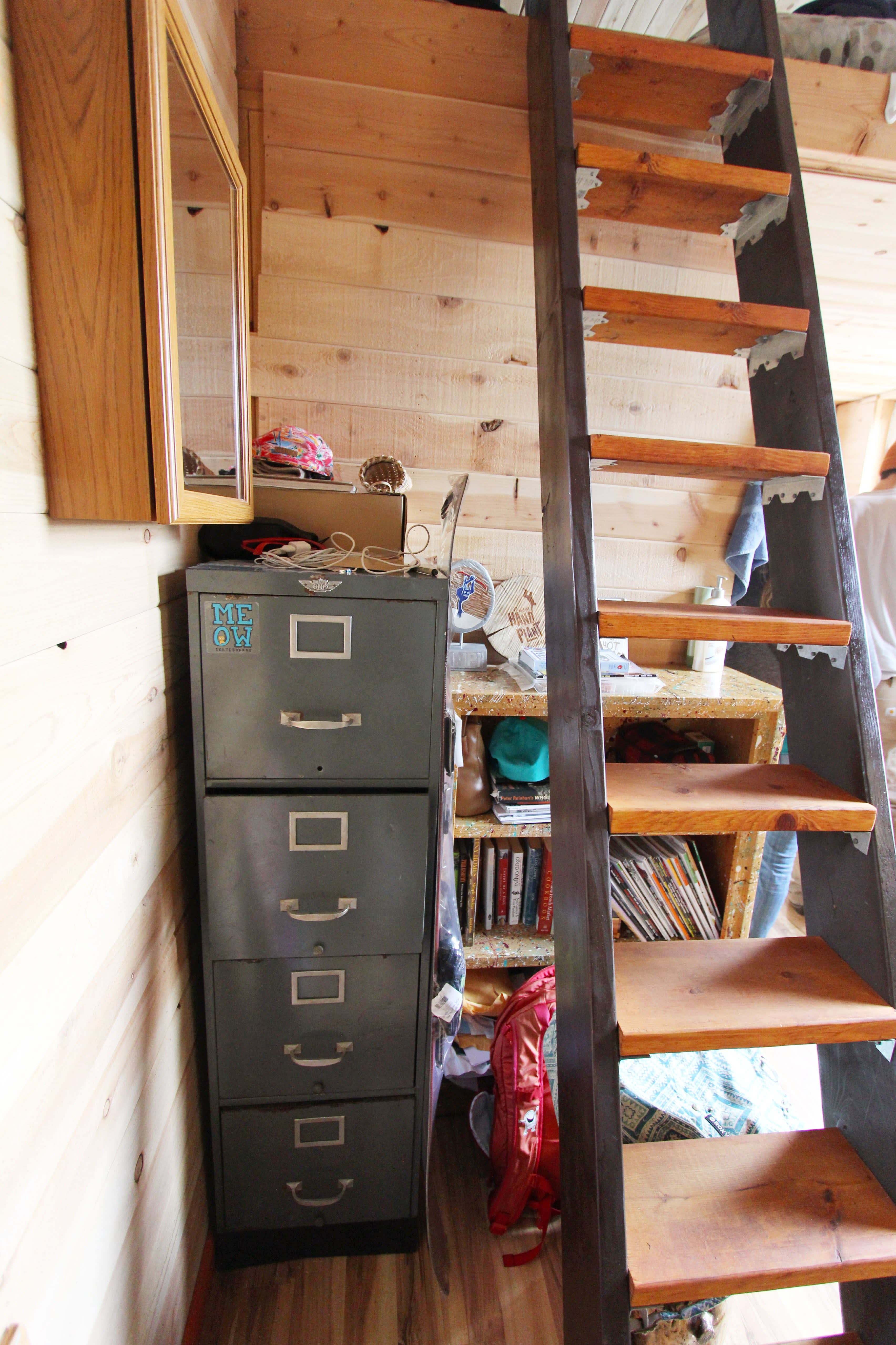 Tim and Hannah's Affordable DIY Self-Sustainable Micro Cabin: gallery slide thumbnail 37