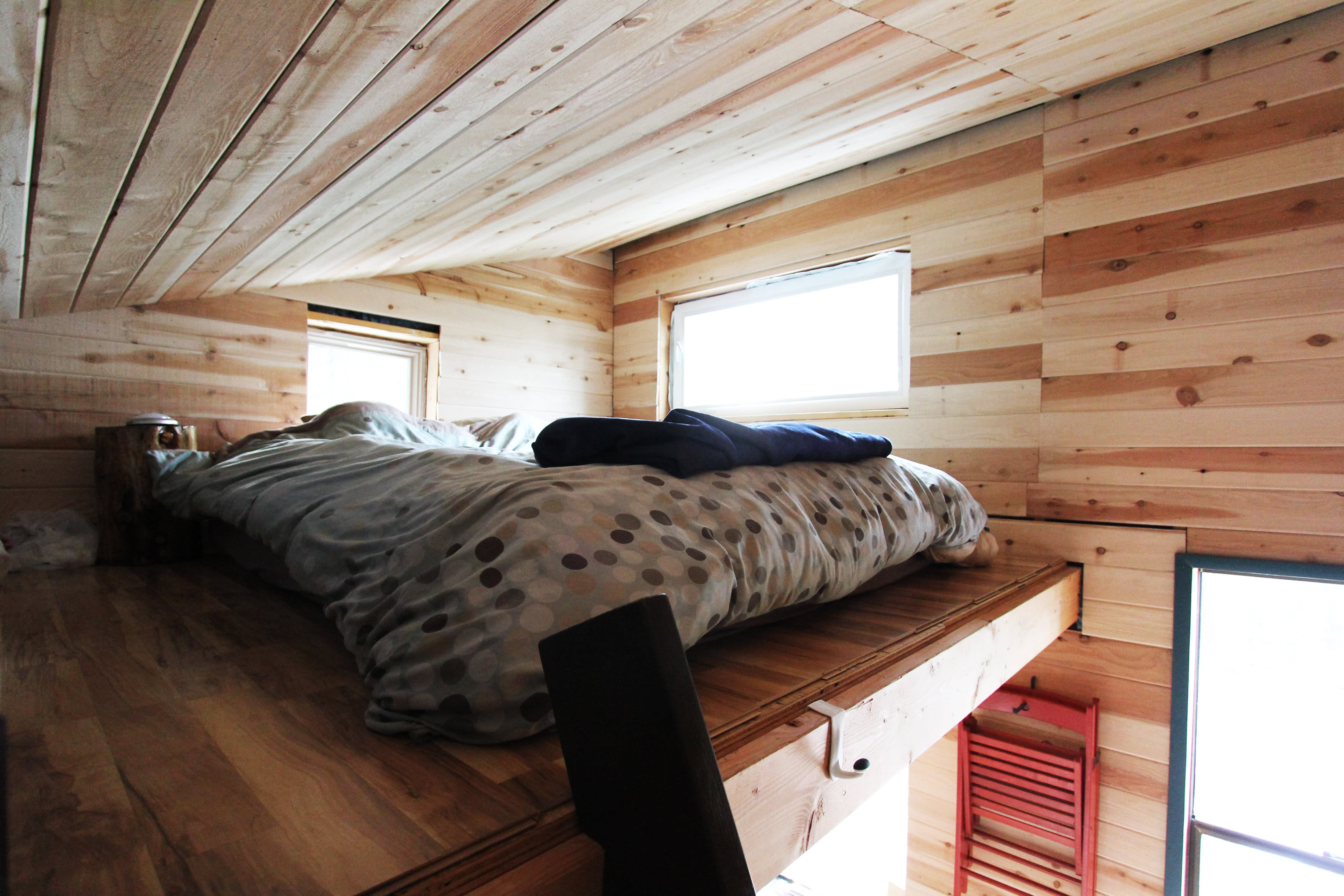 Tim and Hannah's Affordable DIY Self-Sustainable Micro Cabin: gallery slide thumbnail 40