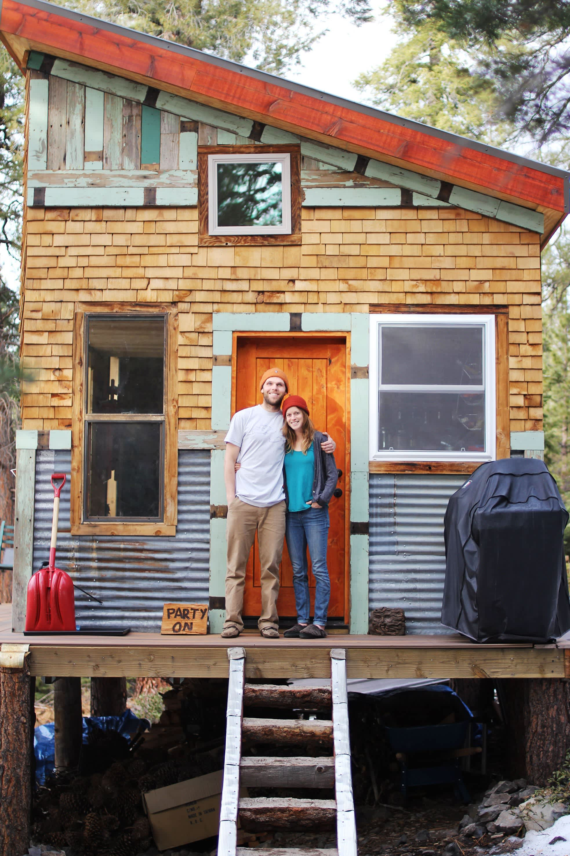 Tim and Hannah's Affordable DIY Self-Sustainable Micro Cabin: gallery slide thumbnail 41