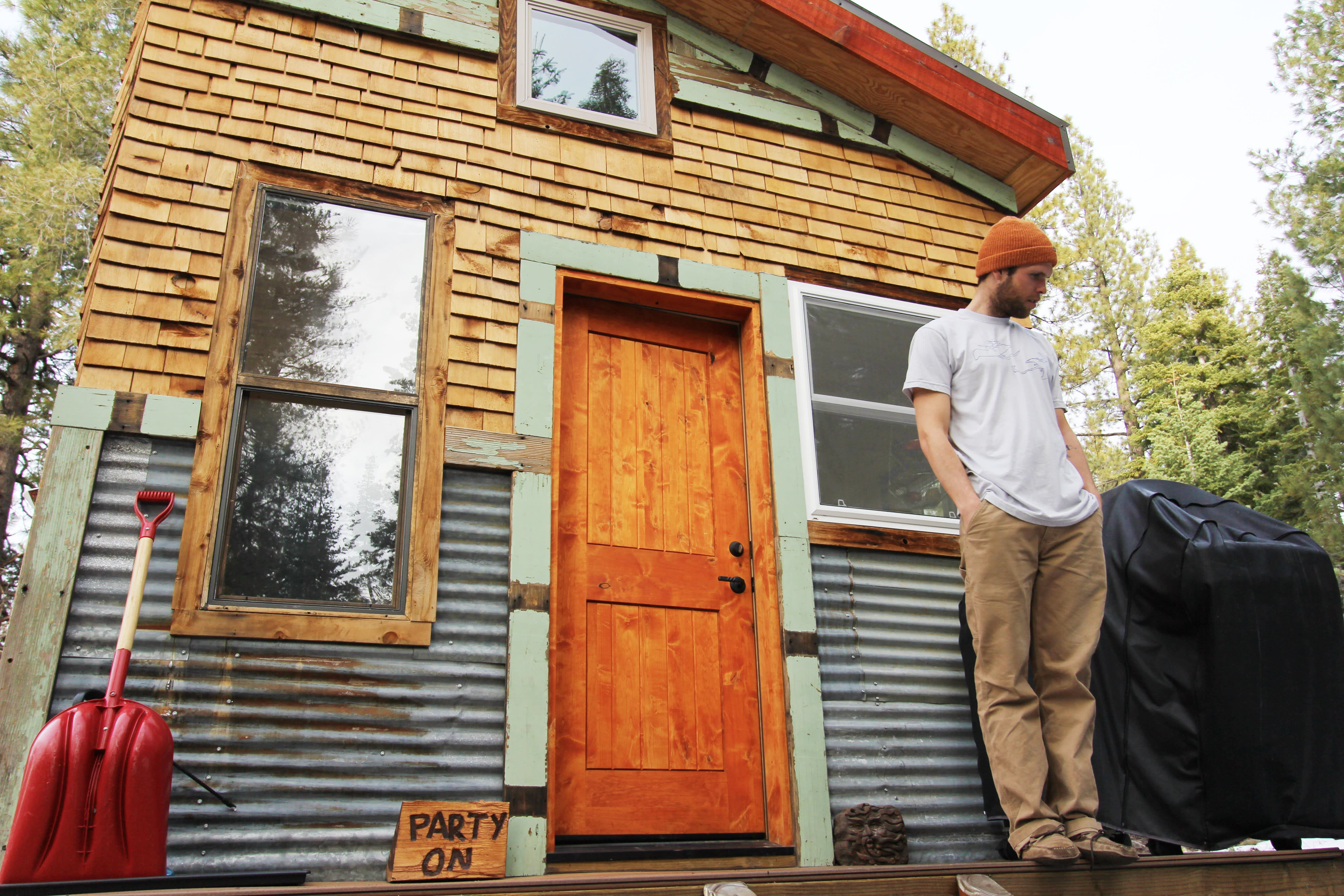 Tim and Hannah's Affordable DIY Self-Sustainable Micro Cabin: gallery slide thumbnail 13