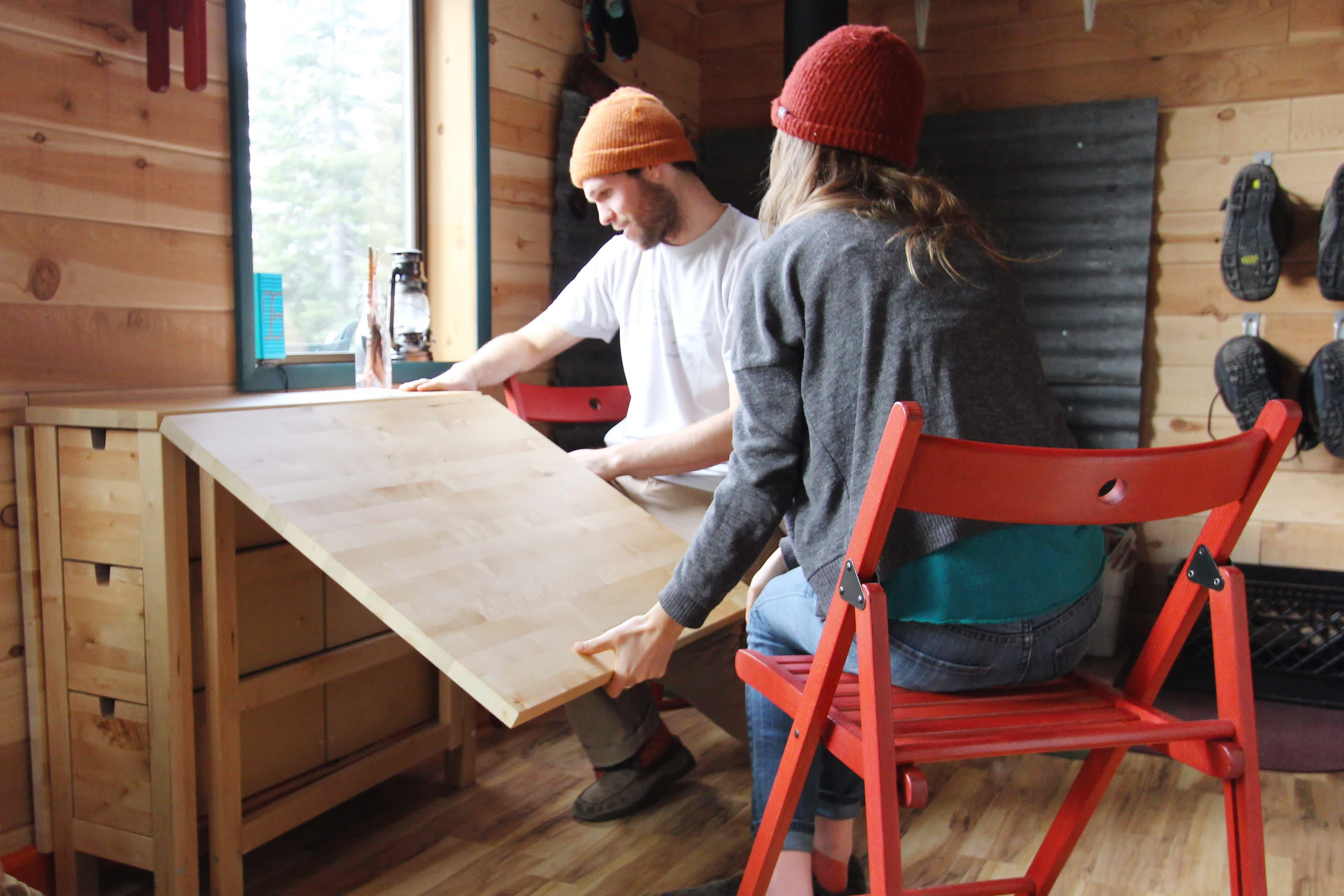 Tim and Hannah's Affordable DIY Self-Sustainable Micro Cabin: gallery slide thumbnail 20