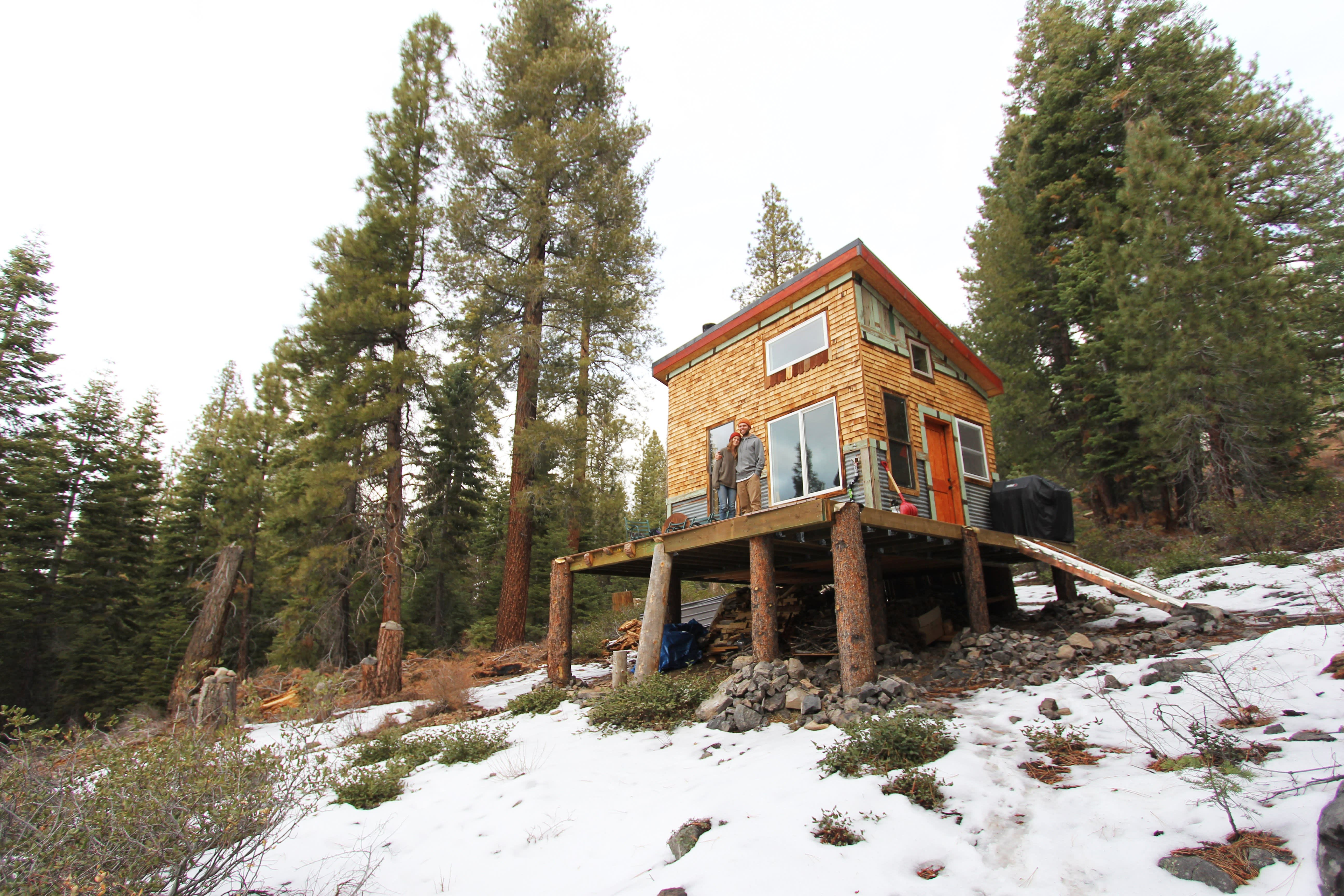 Tim and Hannah's Affordable DIY Self-Sustainable Micro Cabin: gallery slide thumbnail 1