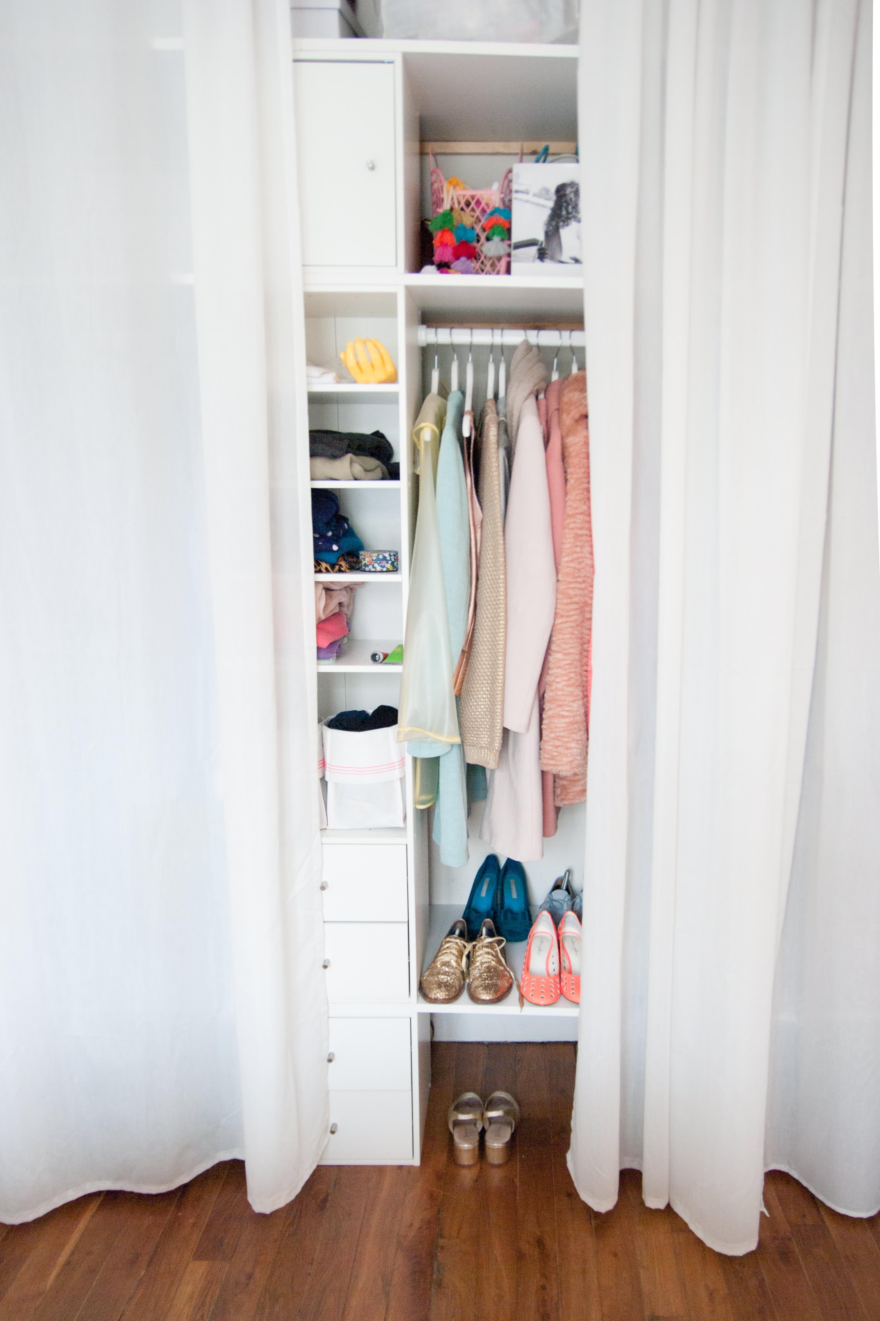 Tall Narrow Coat Closet Dandk Organizer