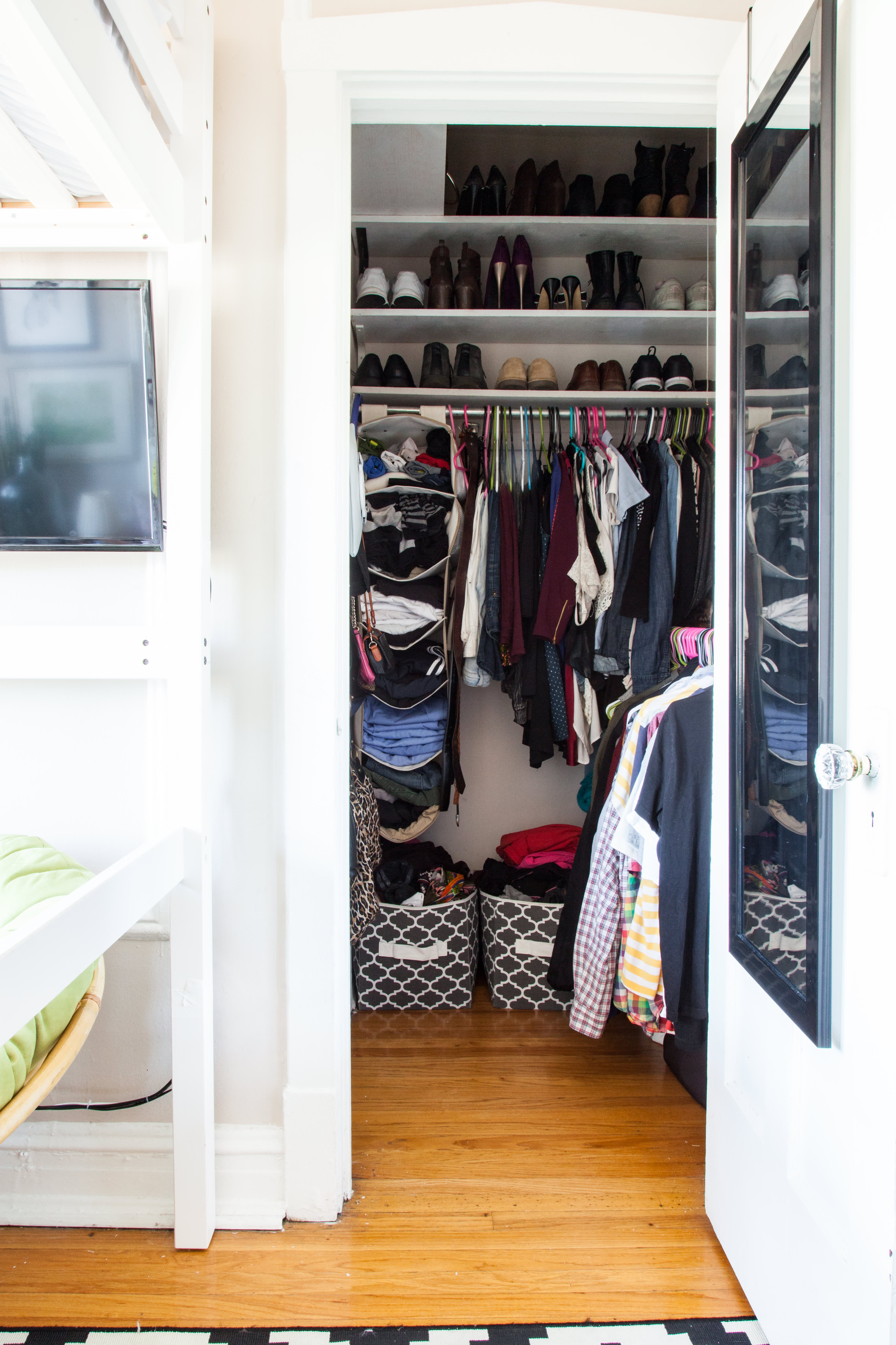 Closet Storage Ideas - Small Closet Organization ... on Small Apartment Organization  id=94374