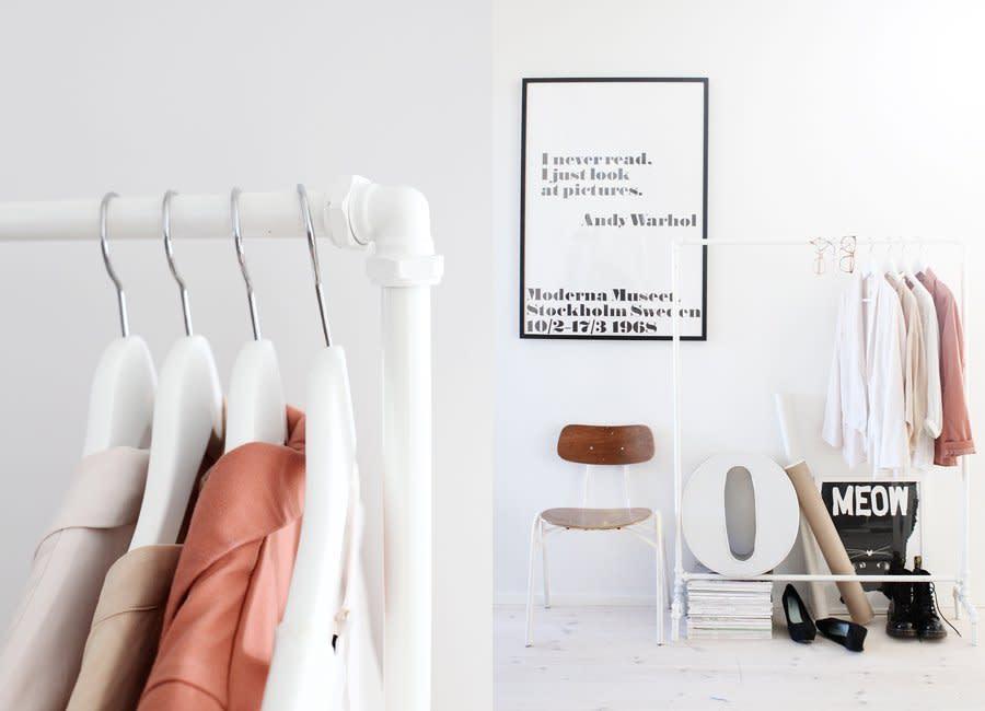 10 Stylish Diy Clothing Racks Apartment Therapy