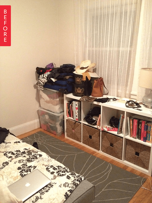 Before & After: A Former Dumping Ground Turned Inviting Guest Room