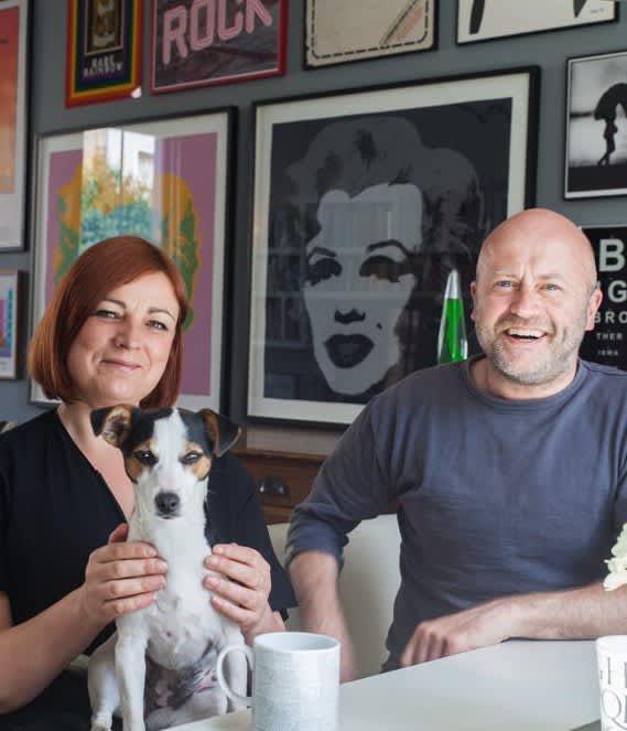 Paula & Paul's Lively London Home and Studio