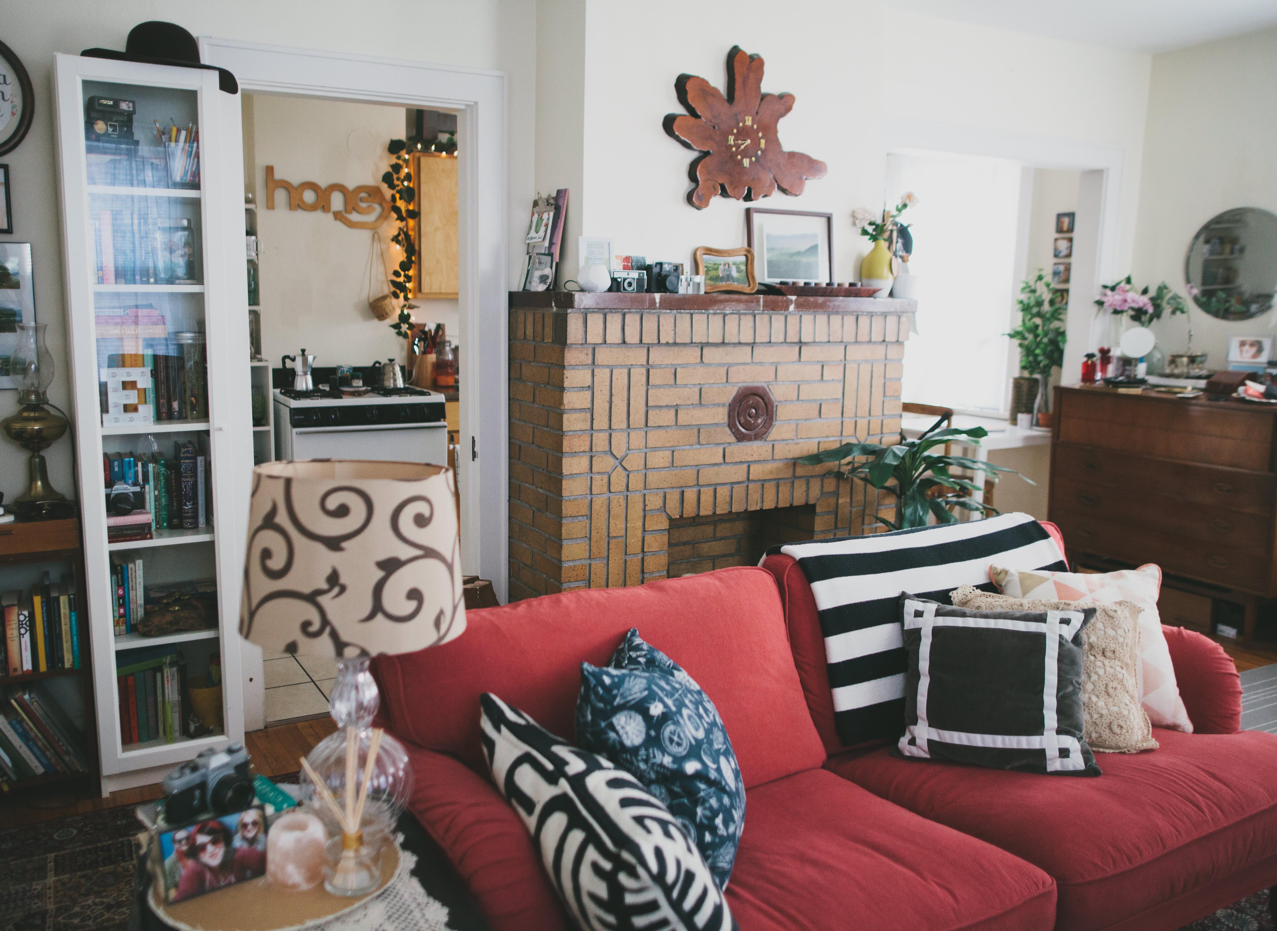 House Tour A Tiny Bohemian Vintage Style Studio Apartment