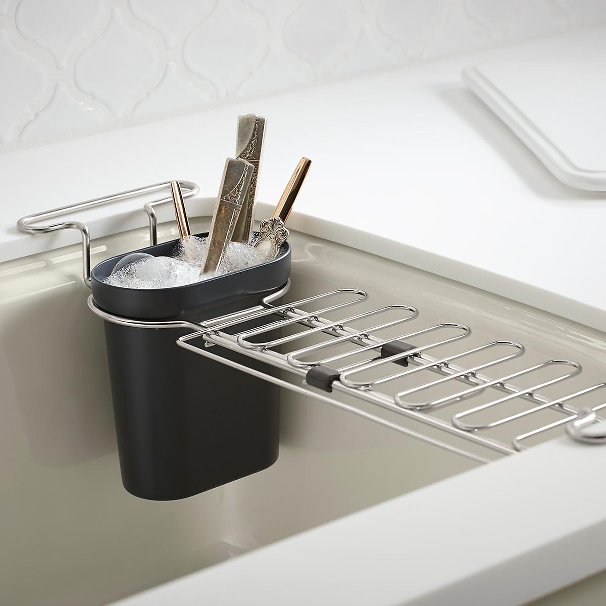 Kohler chrome kitchen sink utility rack 24 99 at the container store image credit the container store