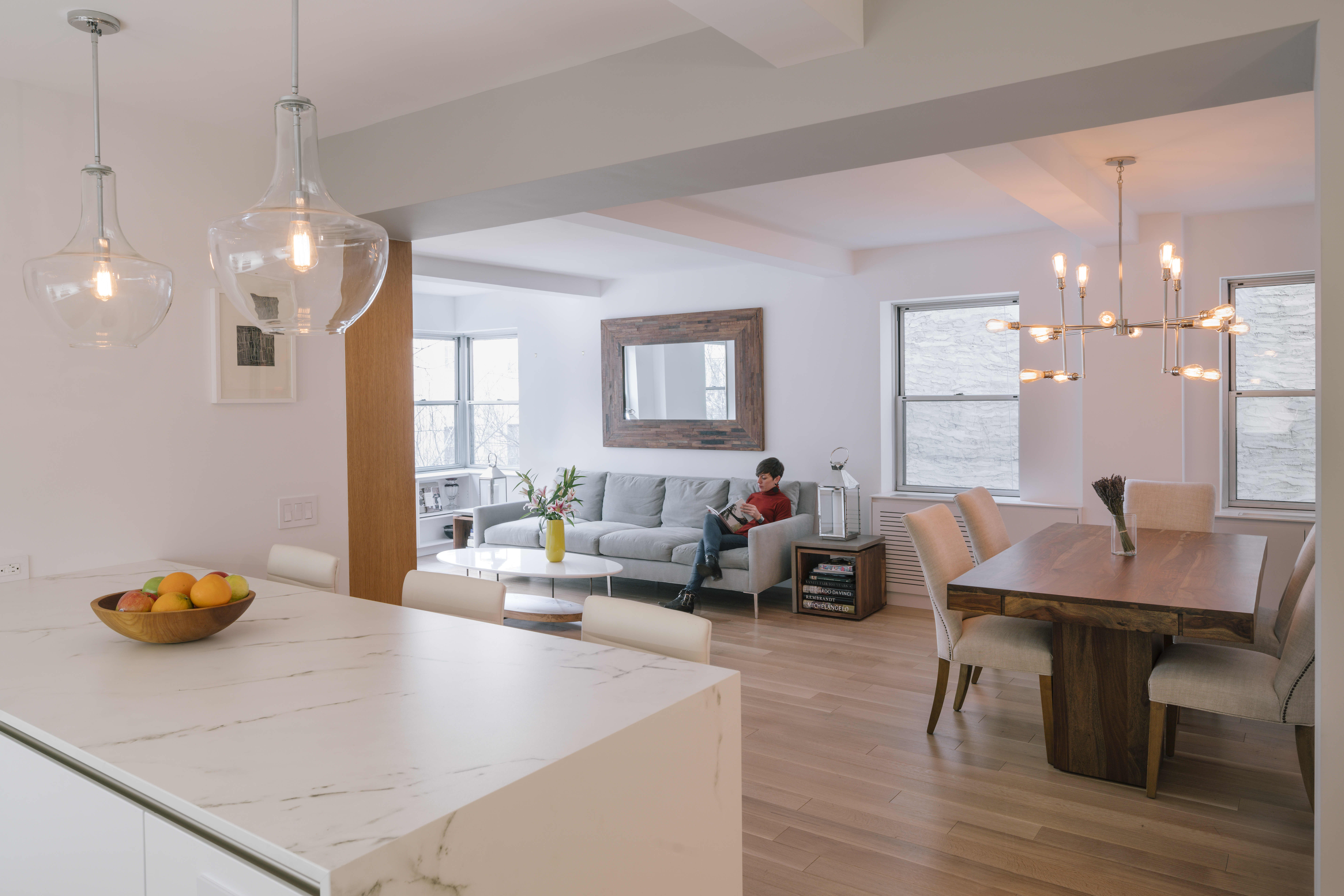 Turning Two Small NYC Apartments into One Sleek Modern Home ...