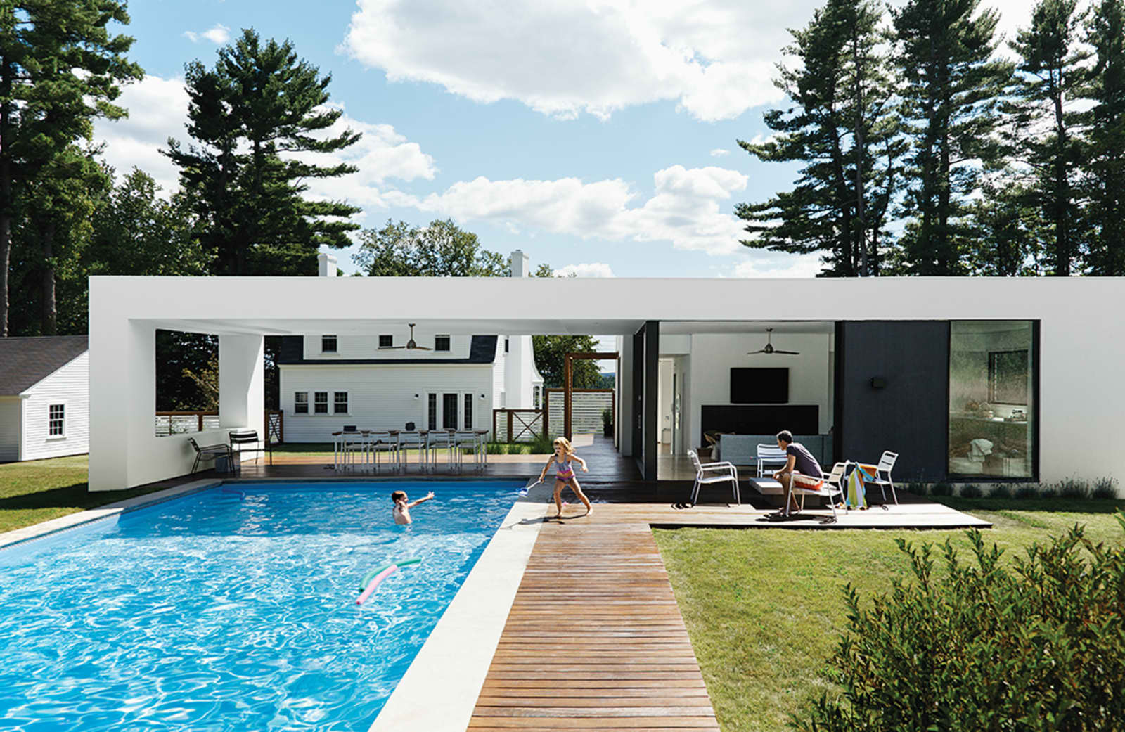The 1000 square foot modern pool house thats actually just my dream house