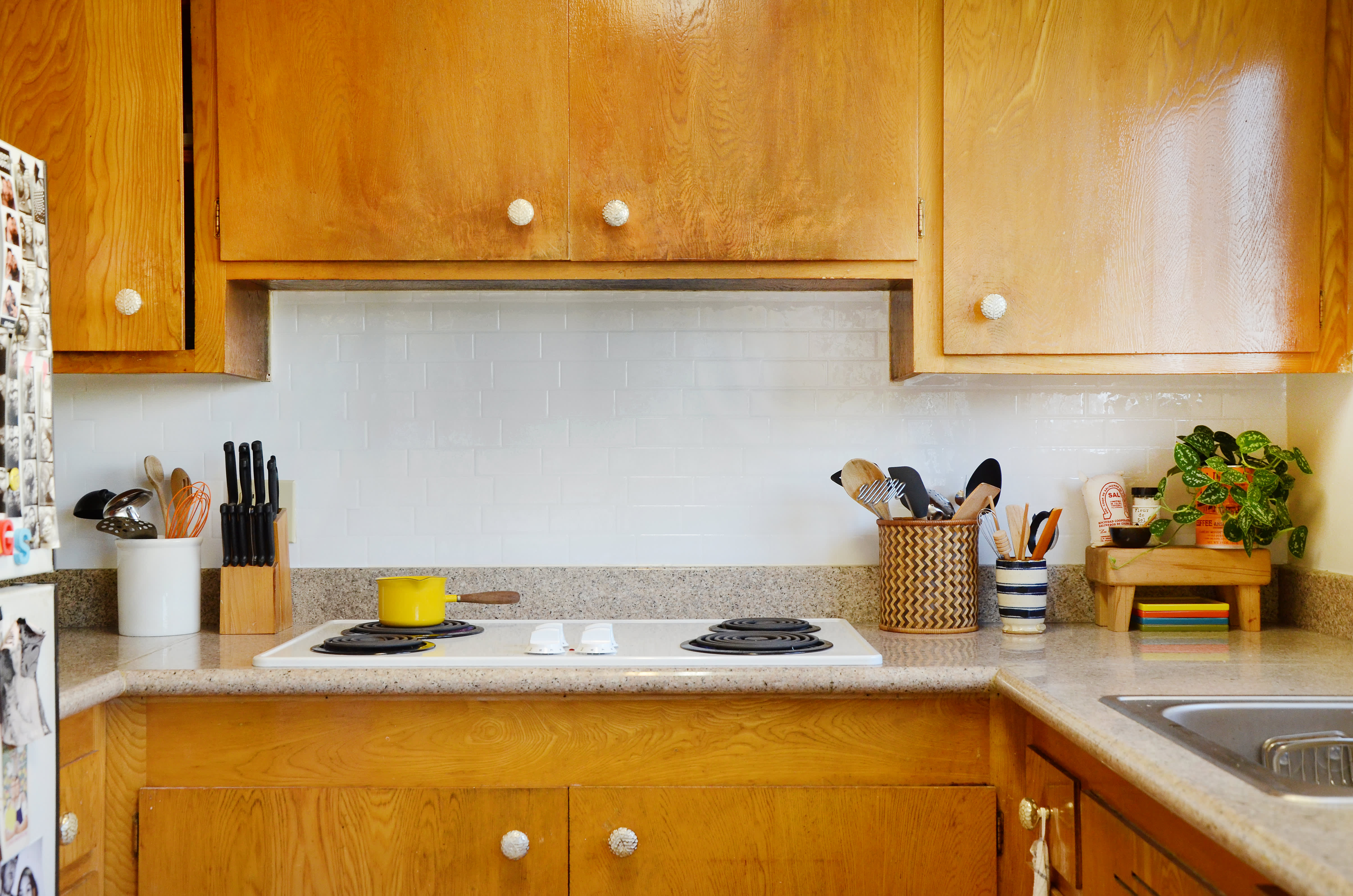 Not In Love With Your Backsplash We Tested Adhesive Removable
