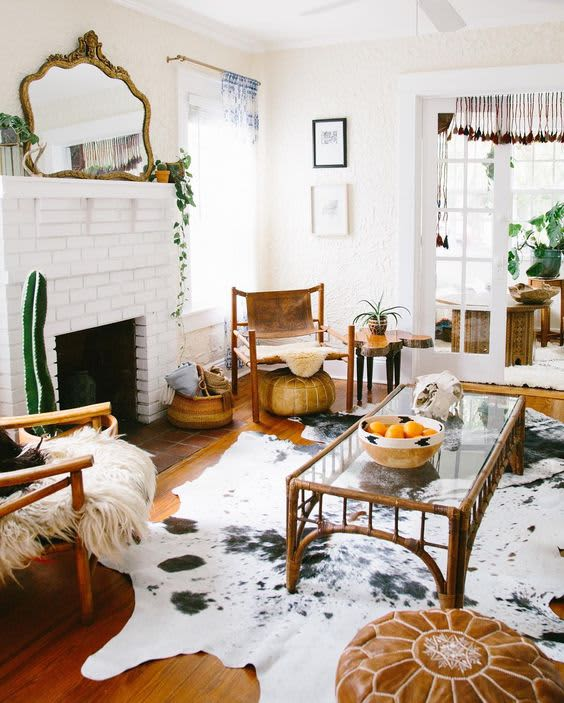 Cowhide Rugs 9 Rooms That Ll Turn Any Skeptic Into A