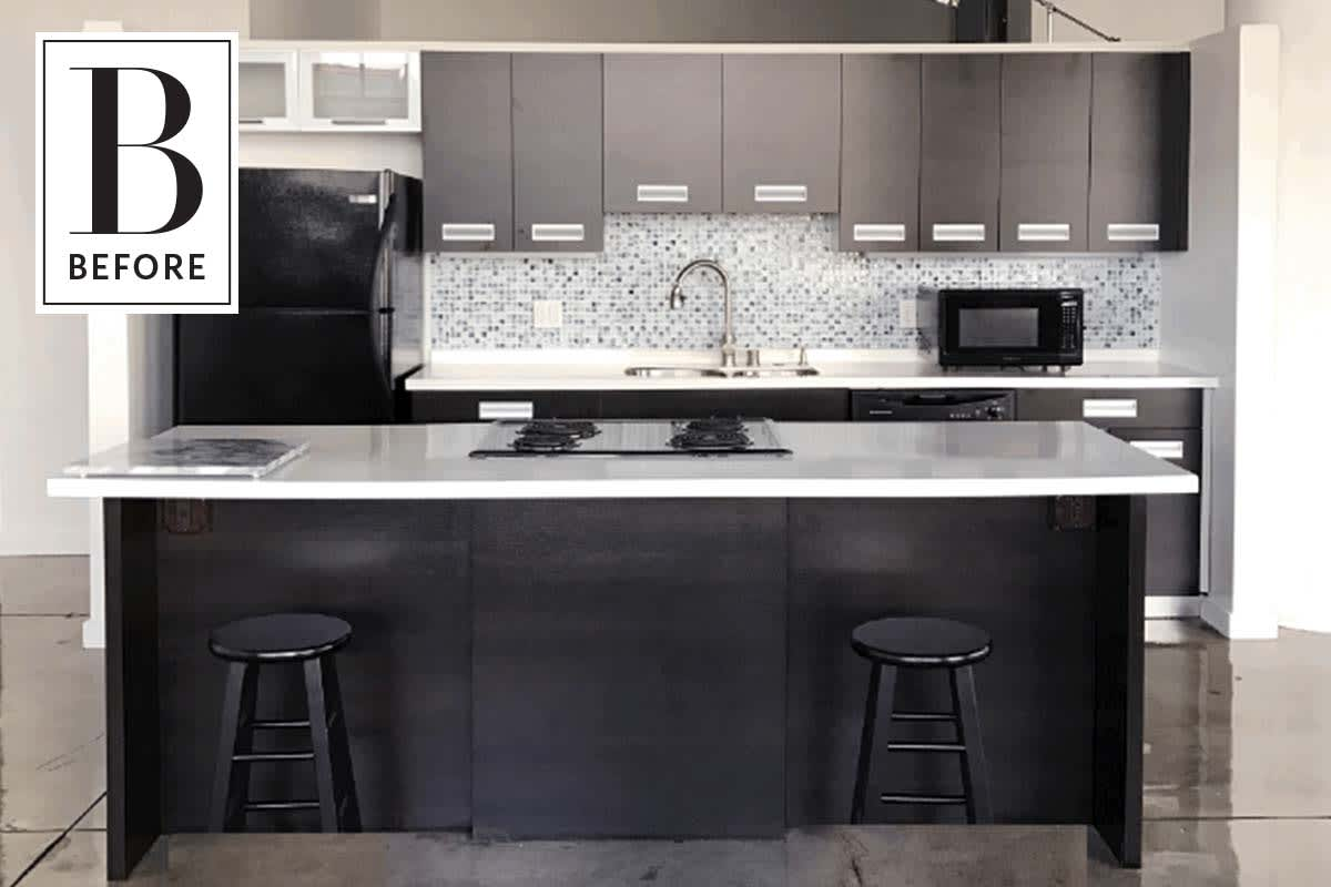 Before And After An Incredible Diy Makeover For Rental Kitchen
