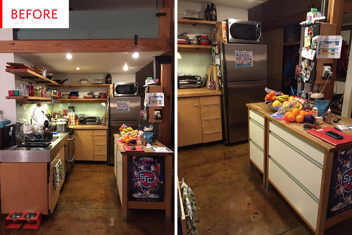 Before & After: Open Shelving rs Will Love This Kitchen ... on l-shaped kitchen with peninsula, remodel kitchens with a peninsula, galley kitchen with peninsula, g shaped kitchen with peninsula,