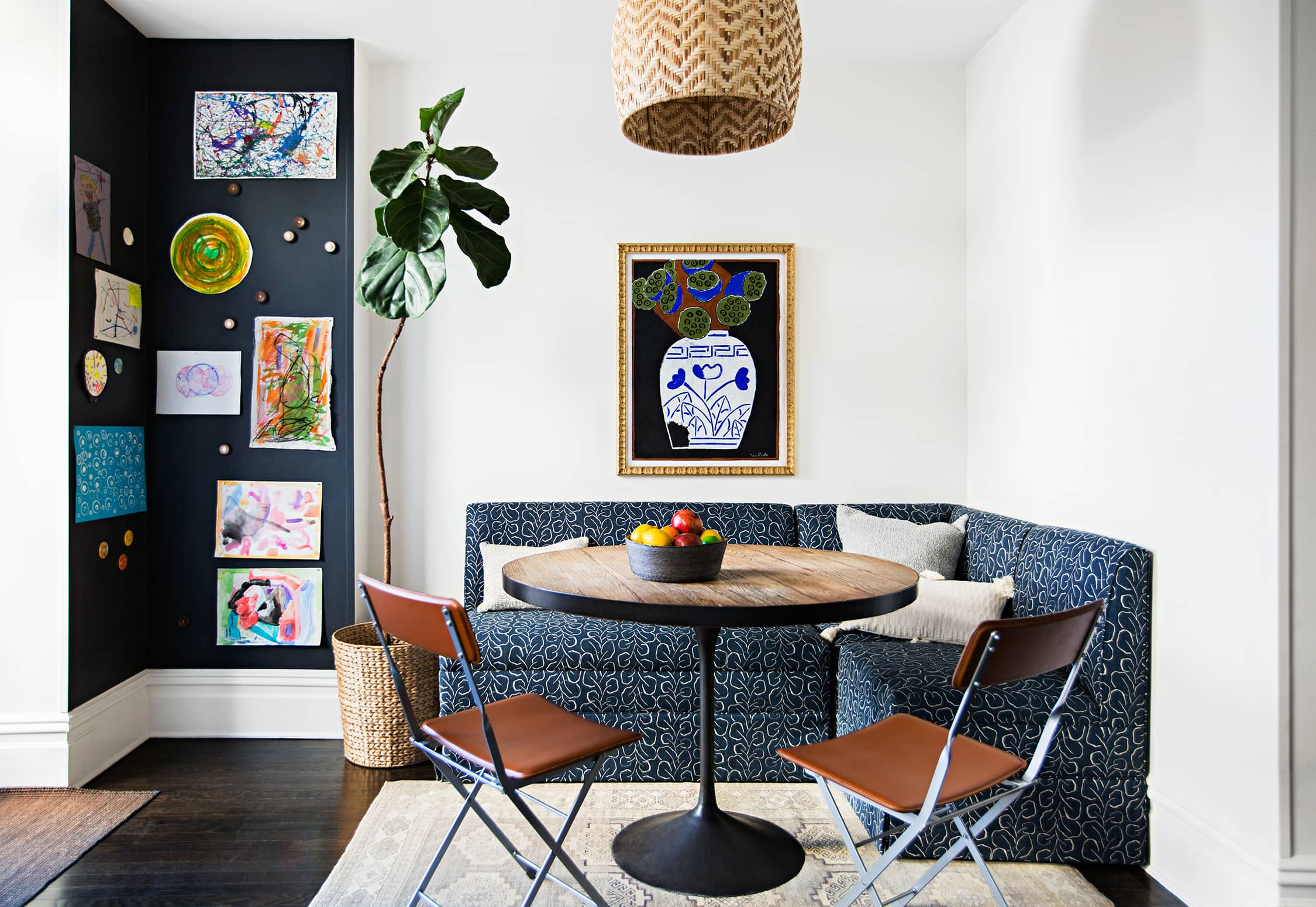 The Wallpaper-Covered Brooklyn Home of Studio Four NYC's Founder Kate Reynolds