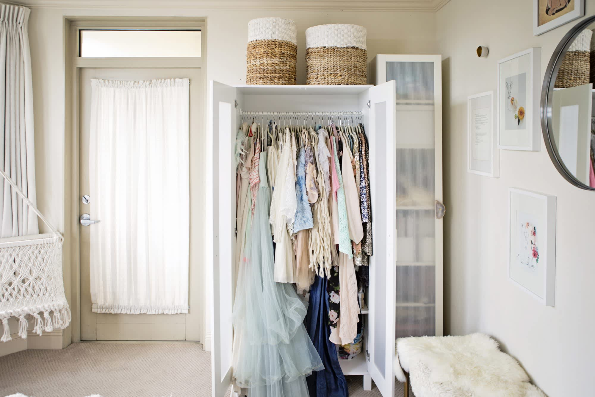 How to create a closet in a small space apartment therapy - Closet ideas for small spaces ...