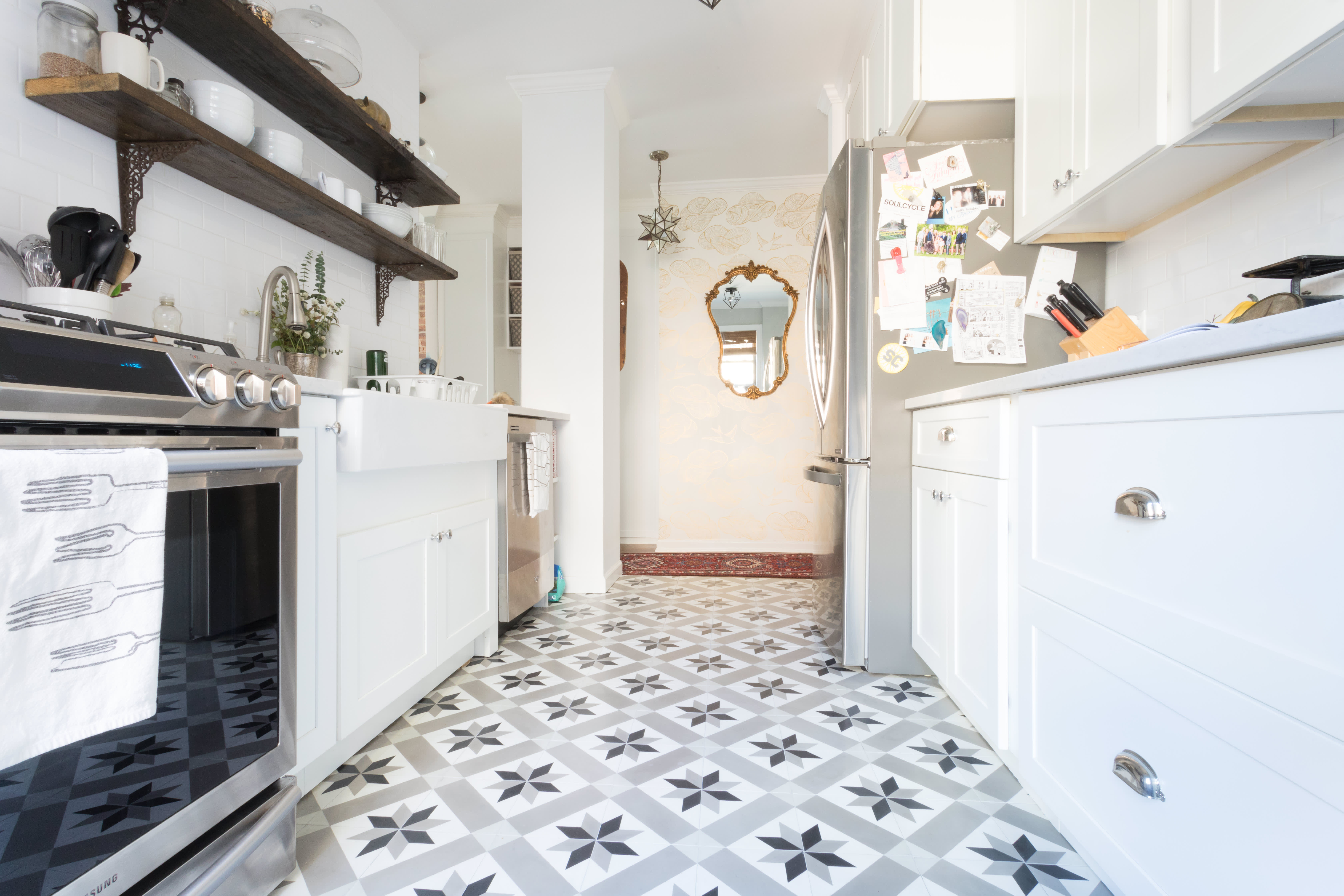 the pros and cons of the cement tile trend apartment therapy. Black Bedroom Furniture Sets. Home Design Ideas