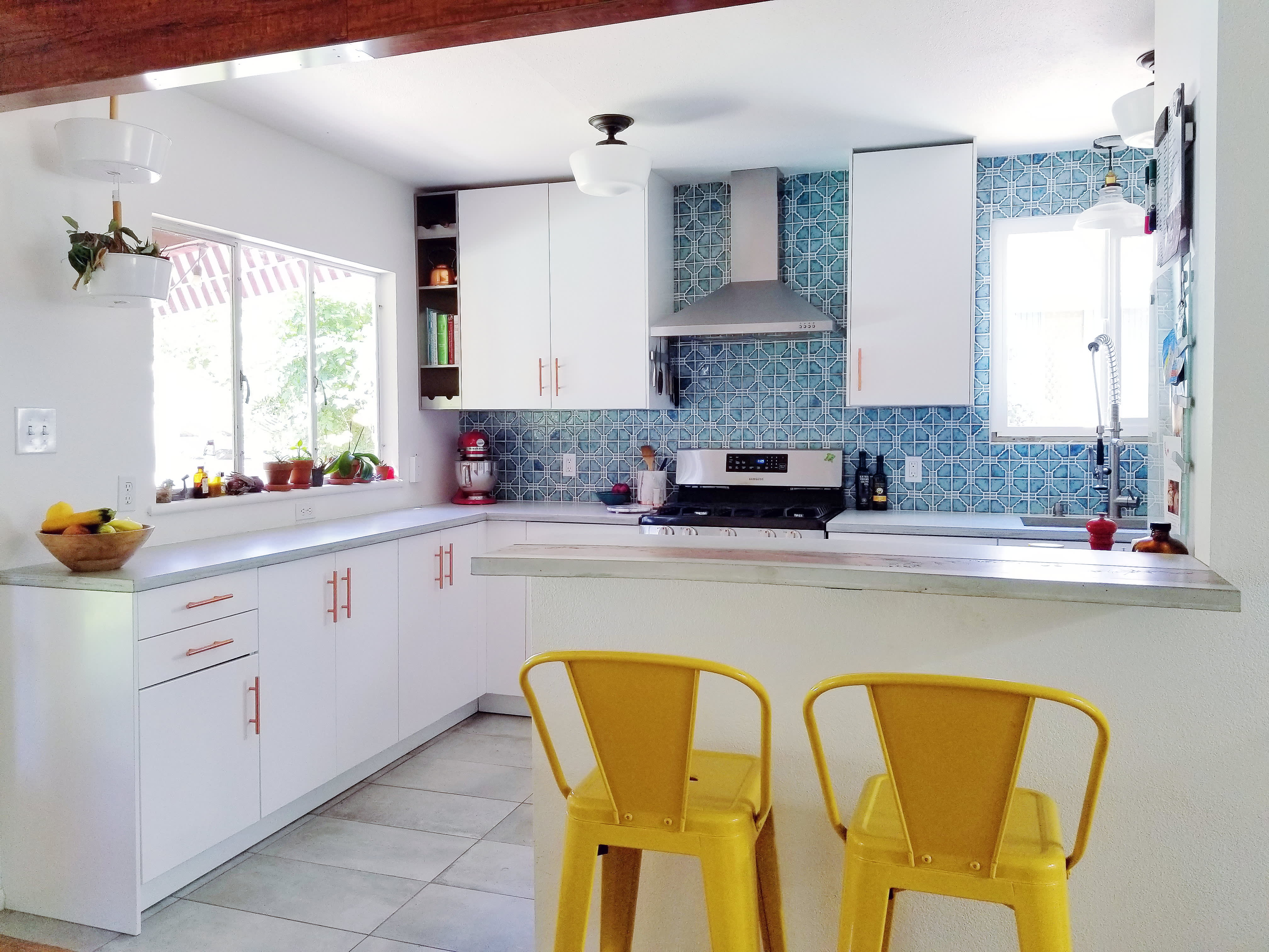 Before and After: A Brown '60s Kitchen Is Now a Clean, Happy Space on 1980s kitchen, 90s kitchen, 20s kitchen, mod kitchen, sink placement in kitchen, 70s wood kitchen, 1970s interior design kitchen, horrible kitchen, 1950s kitchen, 1970s mobile home kitchen, modern kitchen, updating a 1960s kitchen, 1960 style kitchen, diner kitchen, 40s kitchen, old kitchen, 50s kitchen, 2000s kitchen, remodel 1970 ranch style kitchen,