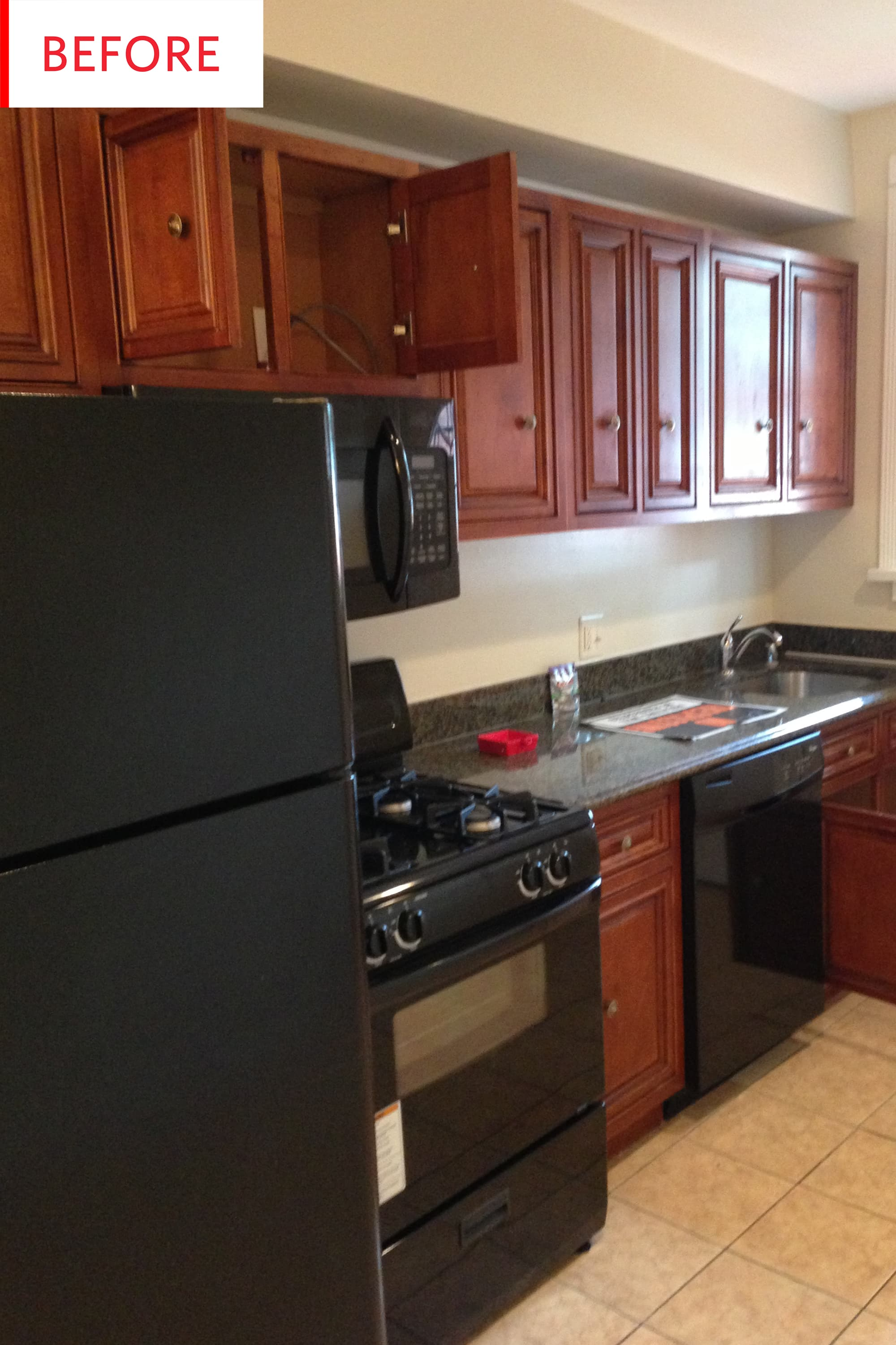 Before And After This Cherry Wood Kitchen Is Now A Riot Of Color