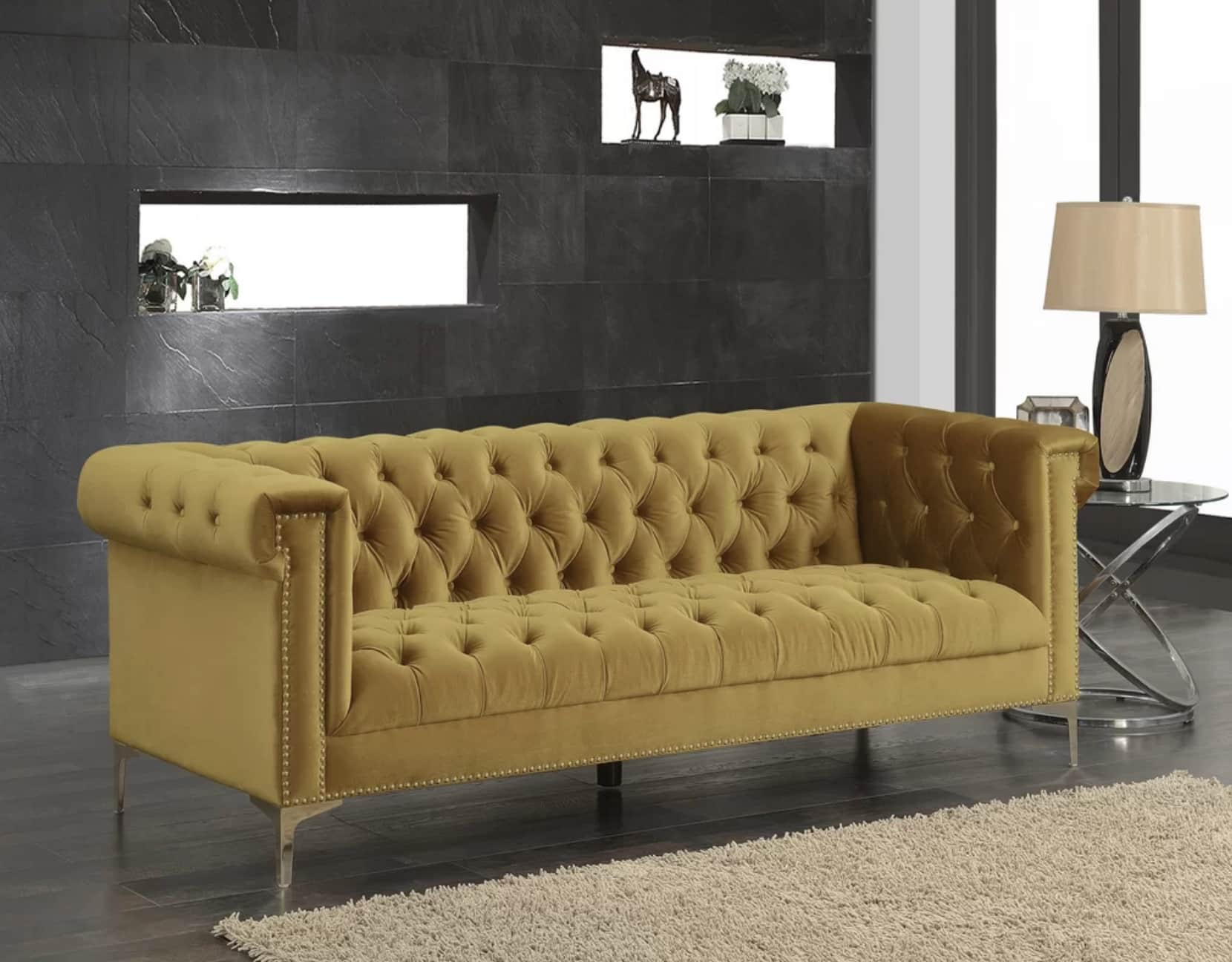 Mercer41 Batts Polyester Chesterfield Sofa 84999 Image Credit Wayfair