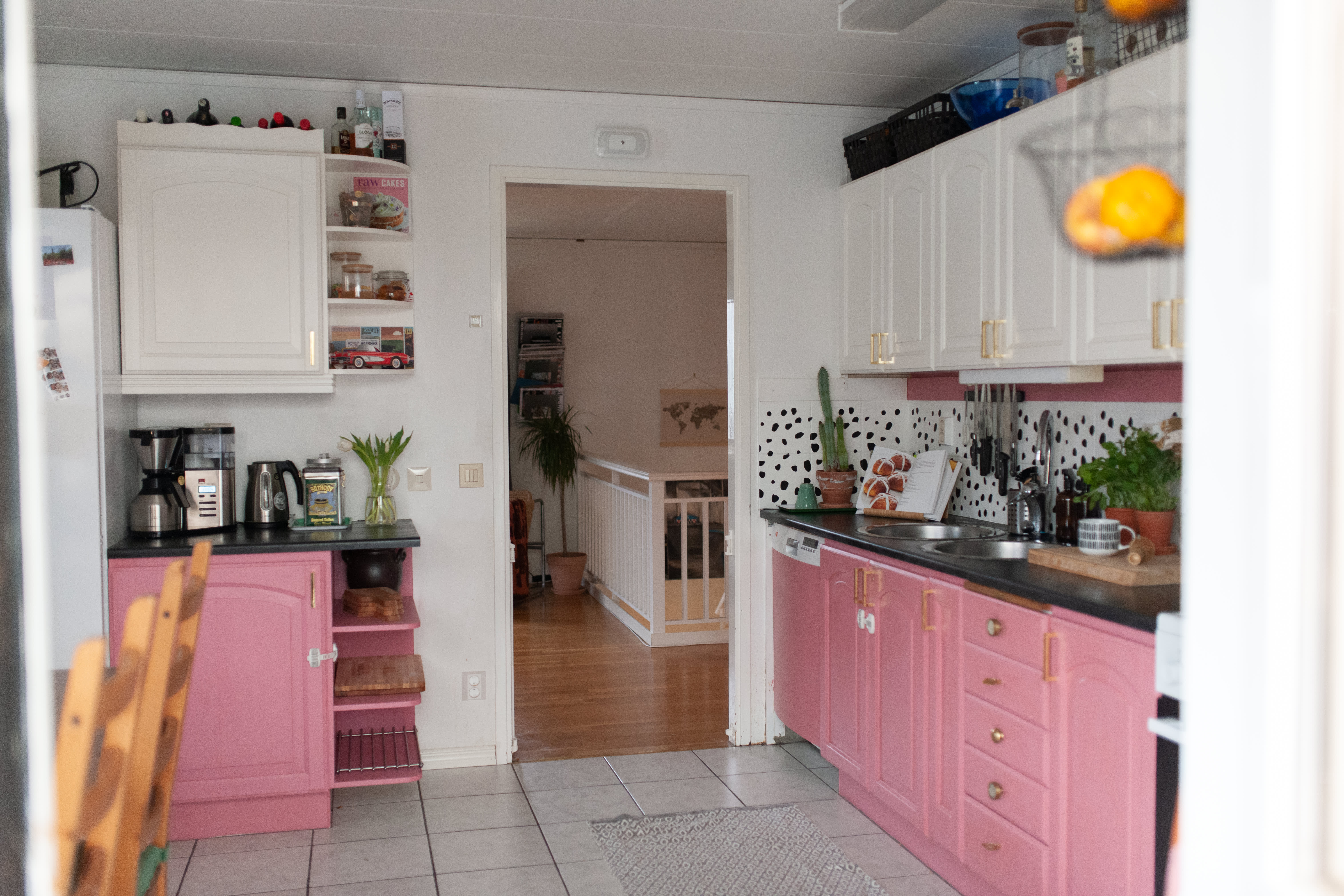 1d9af88fab93 A Fun Swedish Home Has a Pink Kitchen and an Indoor Skate Ramp: gallery  image