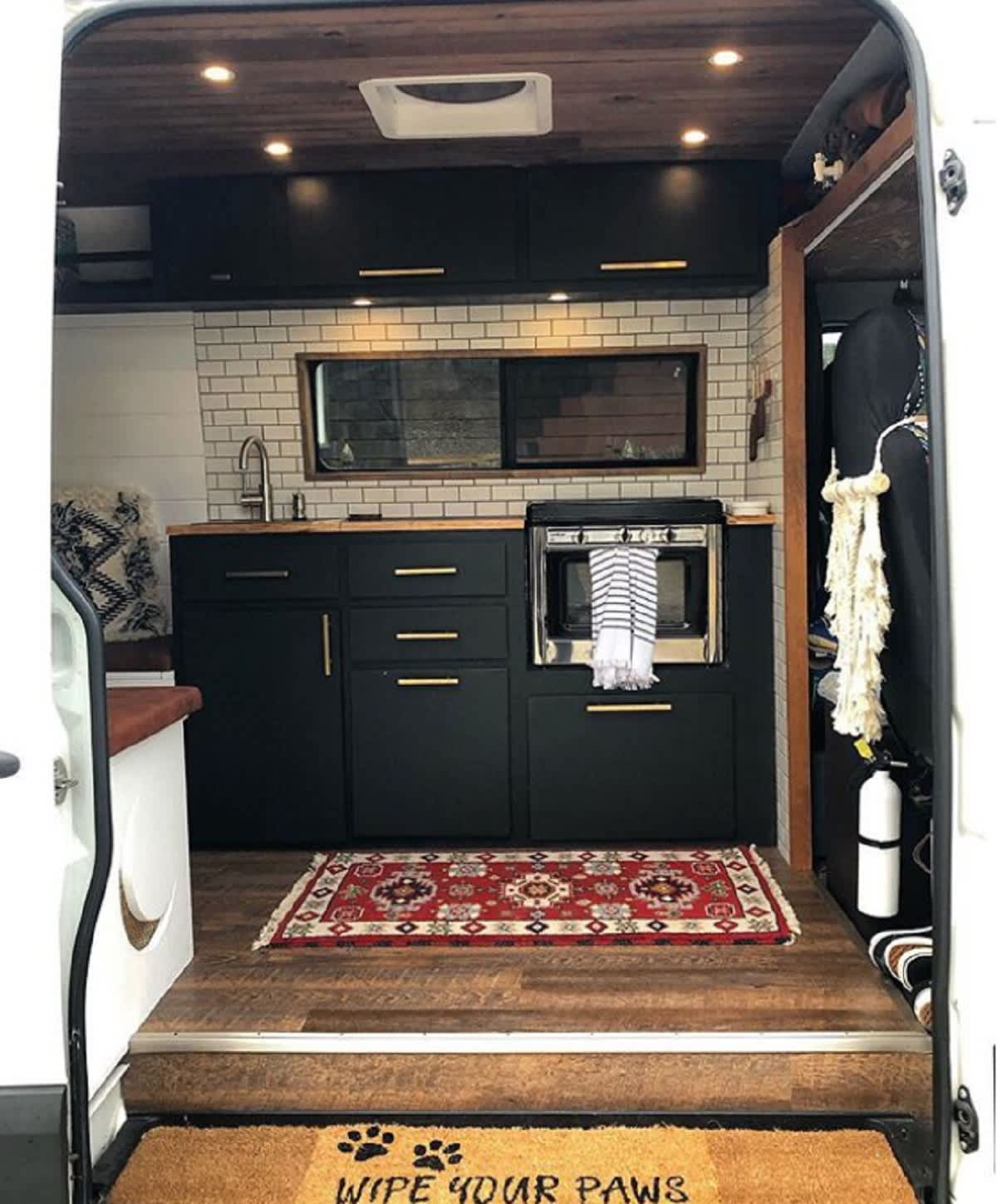 Dodge Sprinter Van Converted To Tiny House On Wheels Apartment Therapy