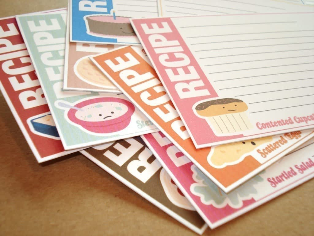Good Idea: Printable Recipe Card Templates: gallery image 1