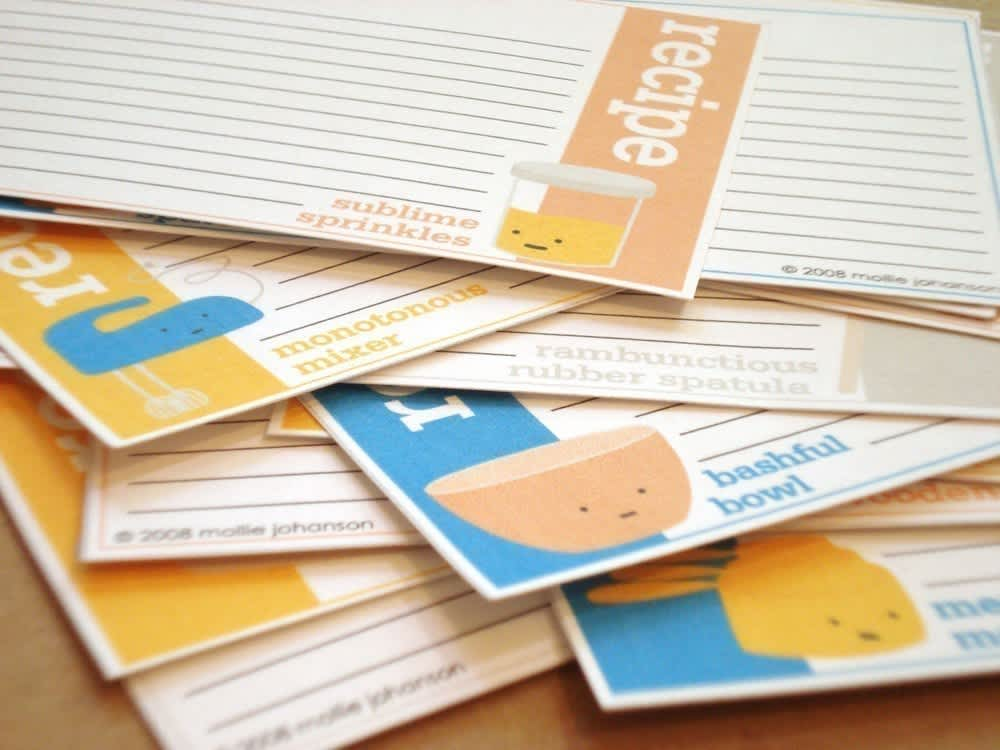 Good Idea: Printable Recipe Card Templates: gallery image 2