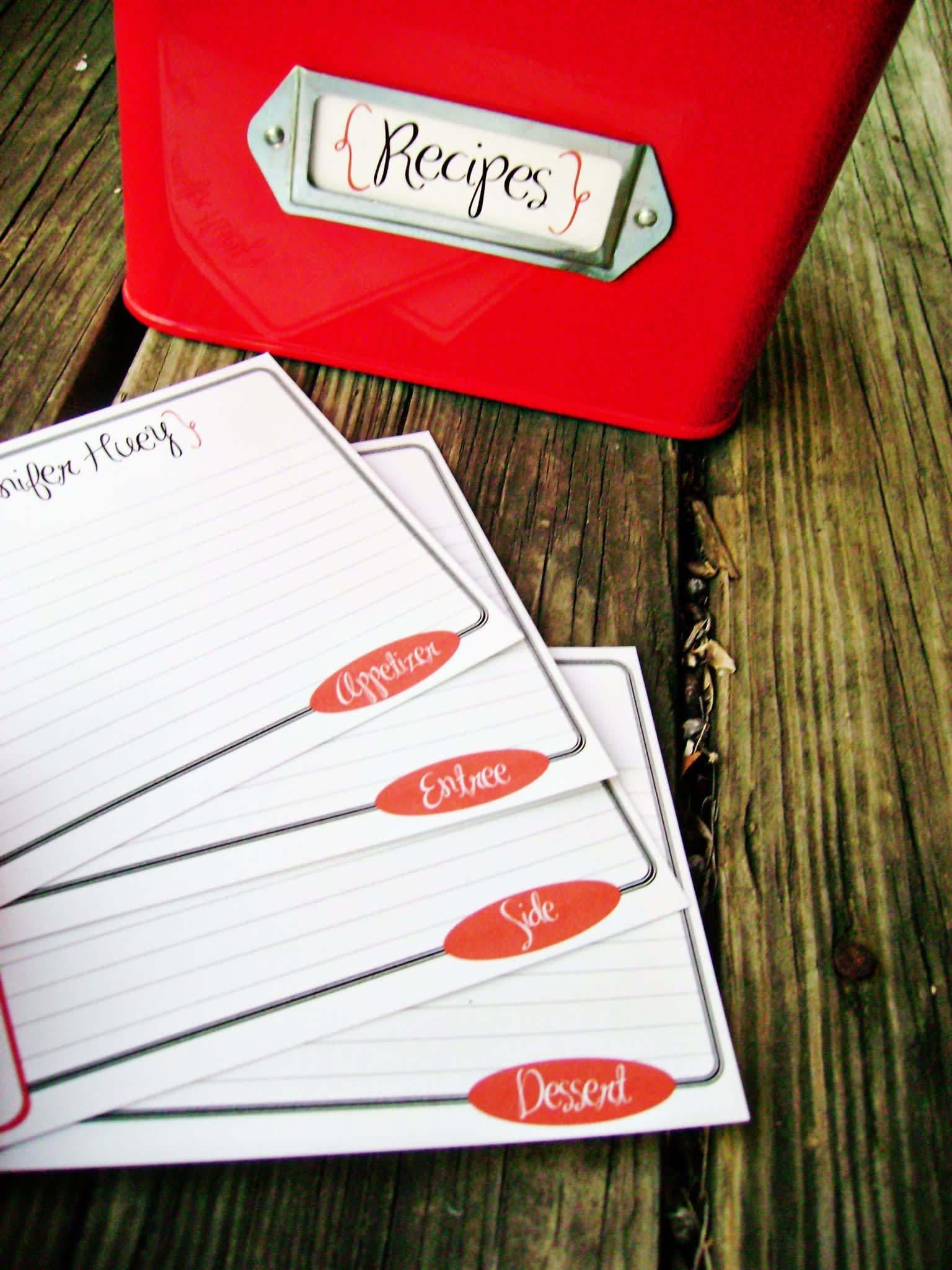 Good Idea: Printable Recipe Card Templates: gallery image 5