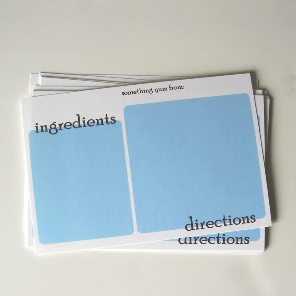 Good Idea: Printable Recipe Card Templates: gallery image 3