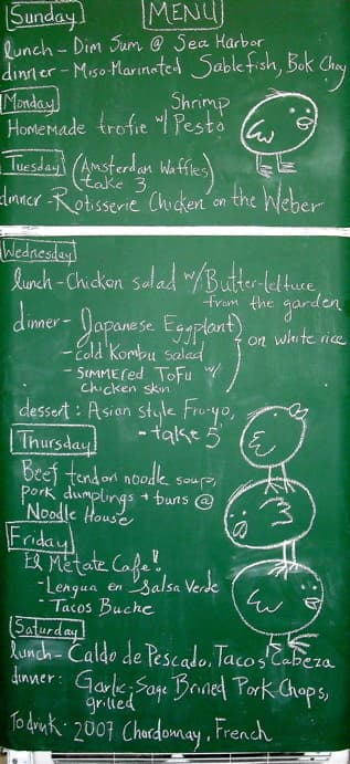 My Chalkboard Fridge: Turn Your Fridge Into a Food Diary Guest Post from Chichi of My Chalkboard Fridge: gallery image 5