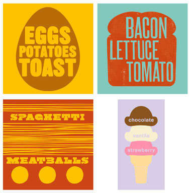 Budget Kitchen Decor: Posters from M + E: gallery image 1