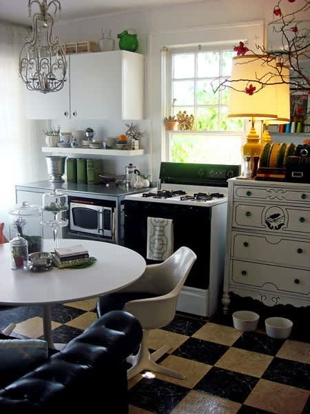 Lamps and Wing Chairs: Living Room Details in the Kitchen: gallery image 1