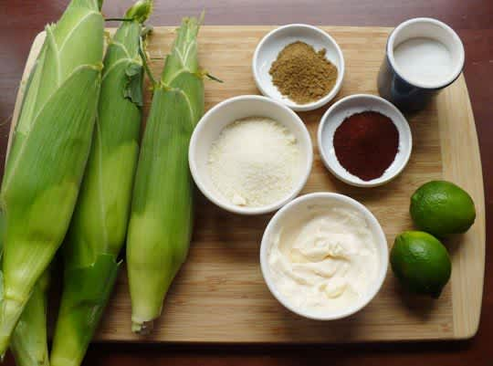 Street Food Recipe: Elote (Roasted Sweet Corn with Cheese): gallery image 3