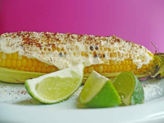 Street Food Recipe: Elote (Roasted Sweet Corn with Cheese): gallery image 1