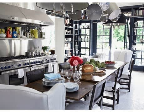 Lamps and Wing Chairs: Living Room Details in the Kitchen: gallery image 2
