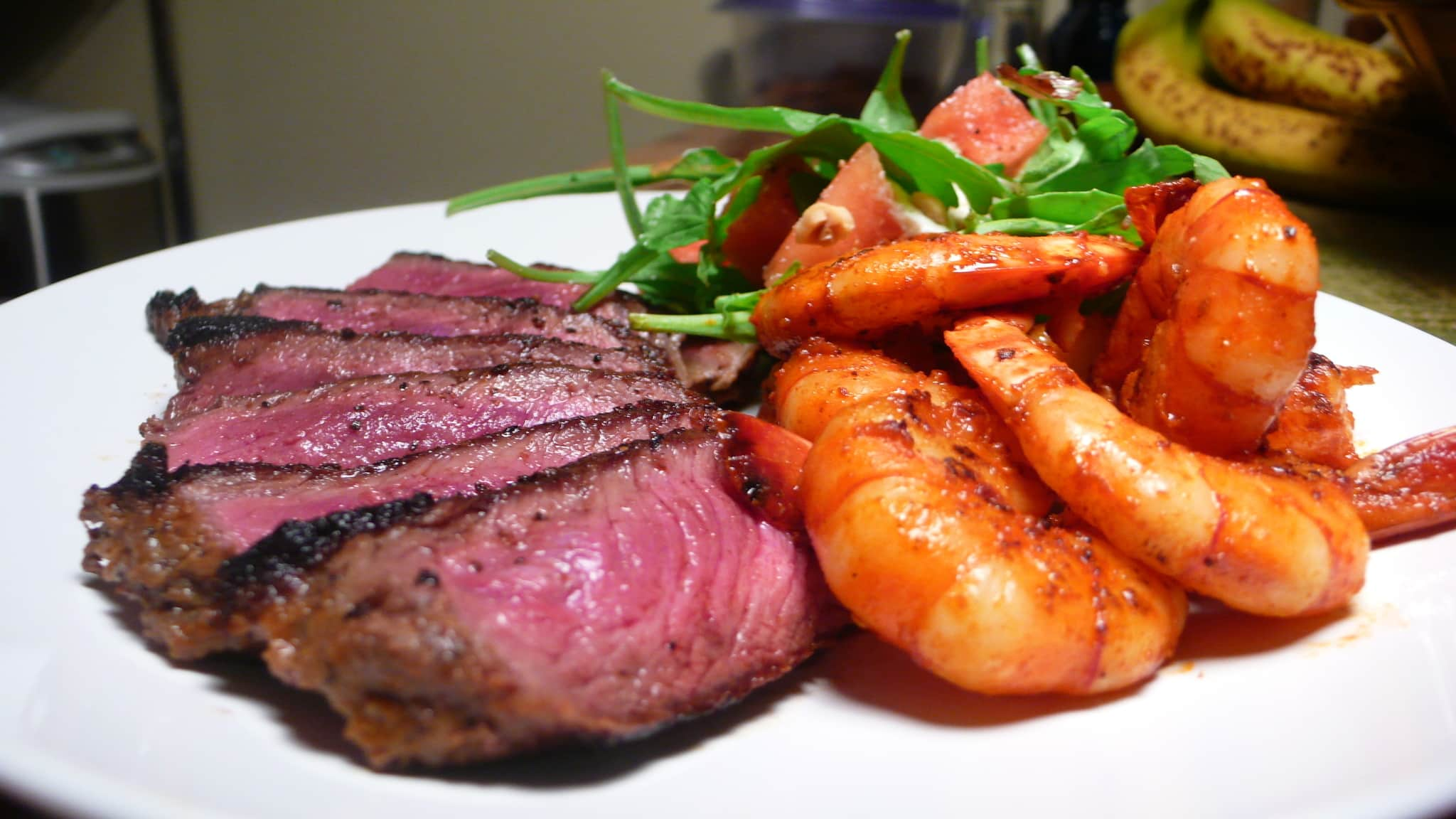 Susan's Dry Rubbed Steak & Shrimp with Watermelon Salad Quick Weeknight Meals Recipe Contest 2009: gallery image 1