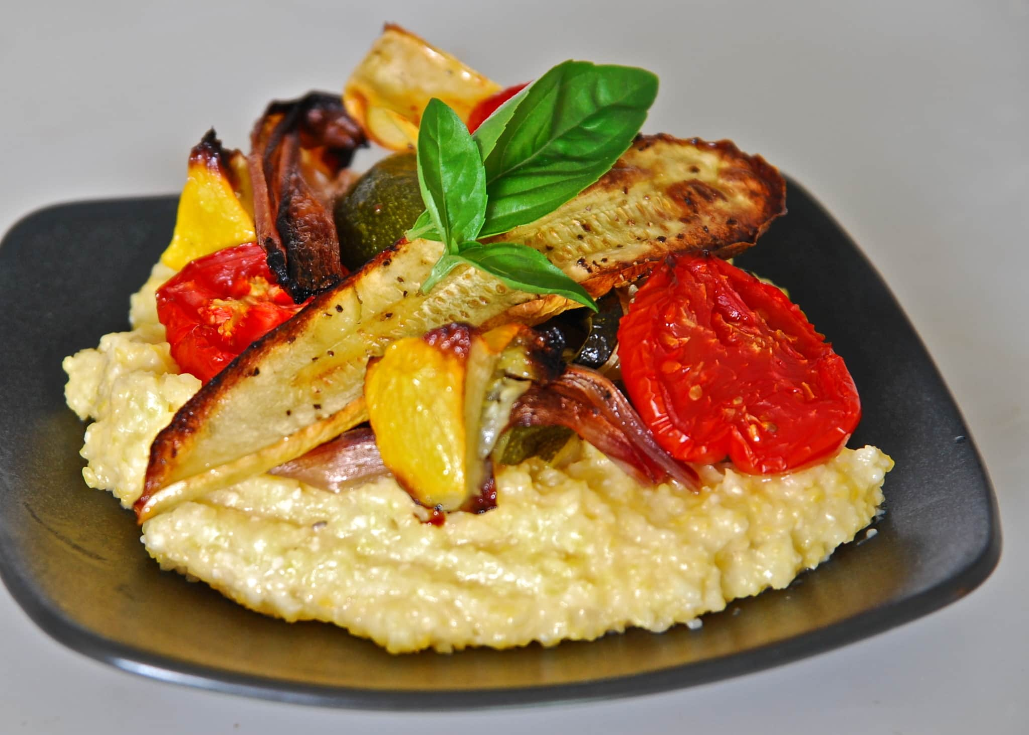 Jean's Roasted Vegetables on Creamy Polenta Quick Weeknight Meals Recipe Contest 2009: gallery image 1